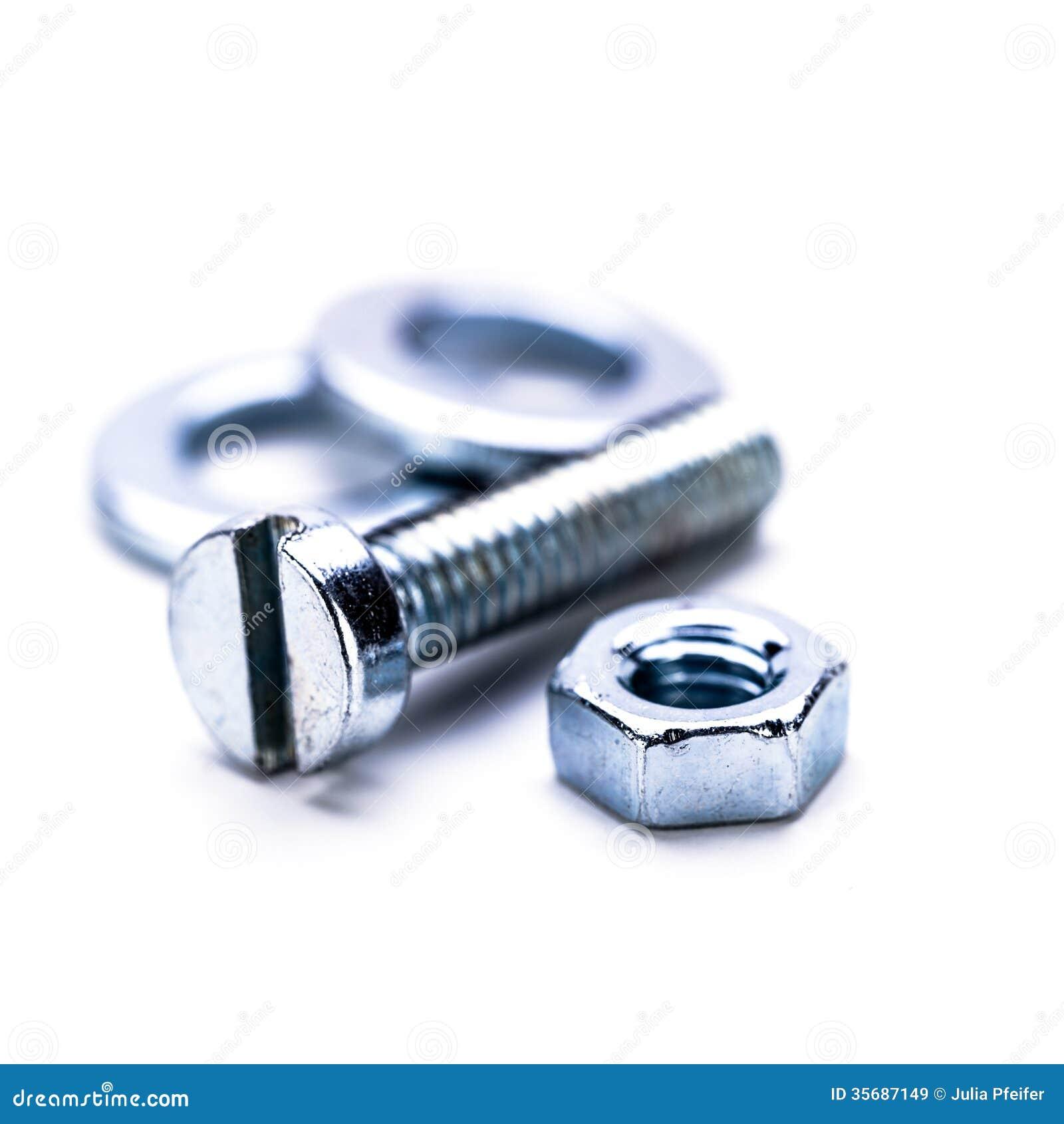 La herramienta hexagonal de acero de plata del tornillo se opone macro