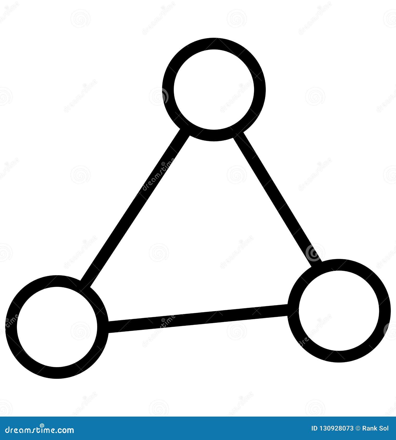 La hiérarchie, part a isolé la ligne icône de vecteur qui peut être facilement modifiée ou éditée