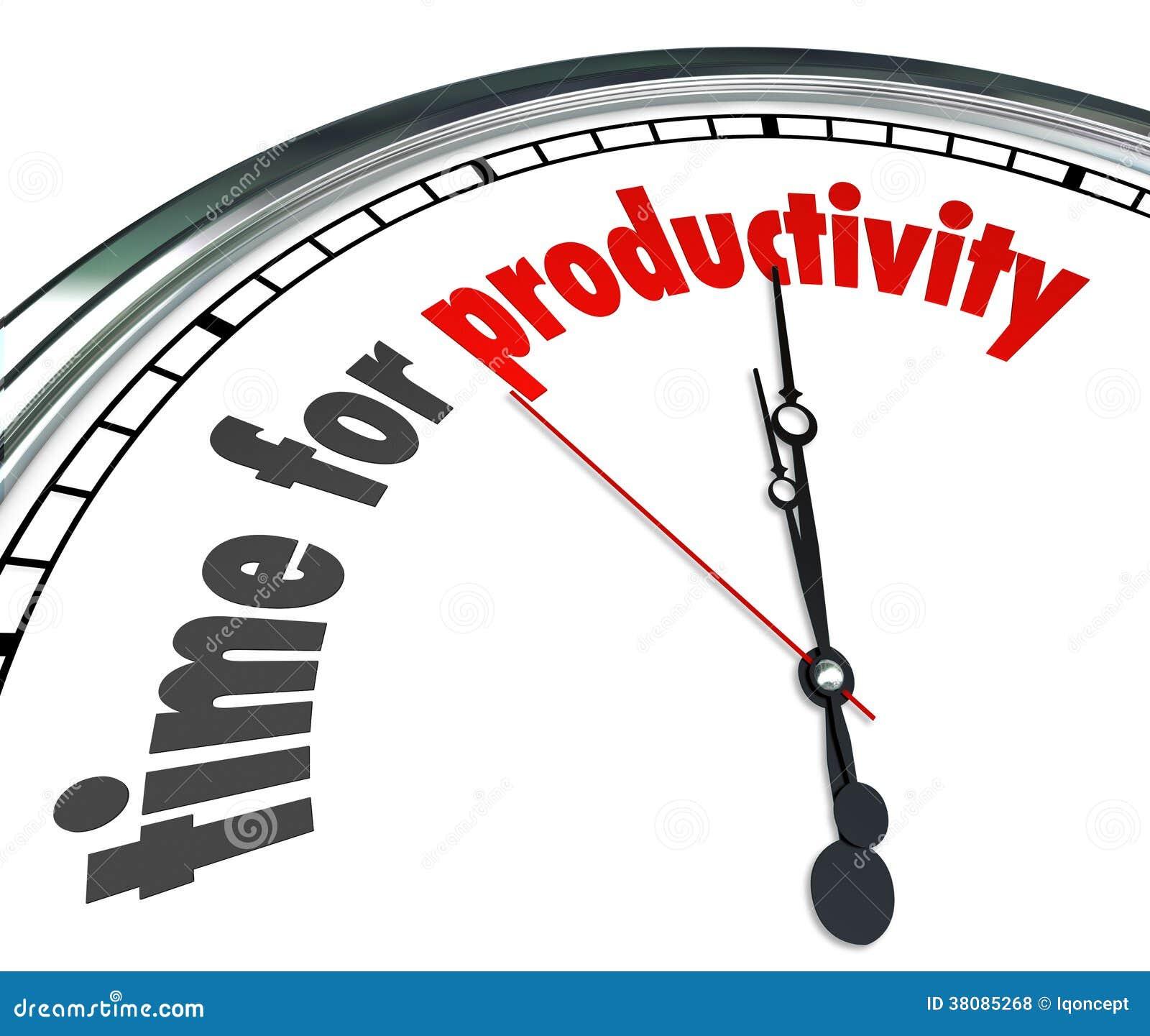 La hora para el funcionamiento de la eficacia del reloj de la productividad ahora consigue resultados