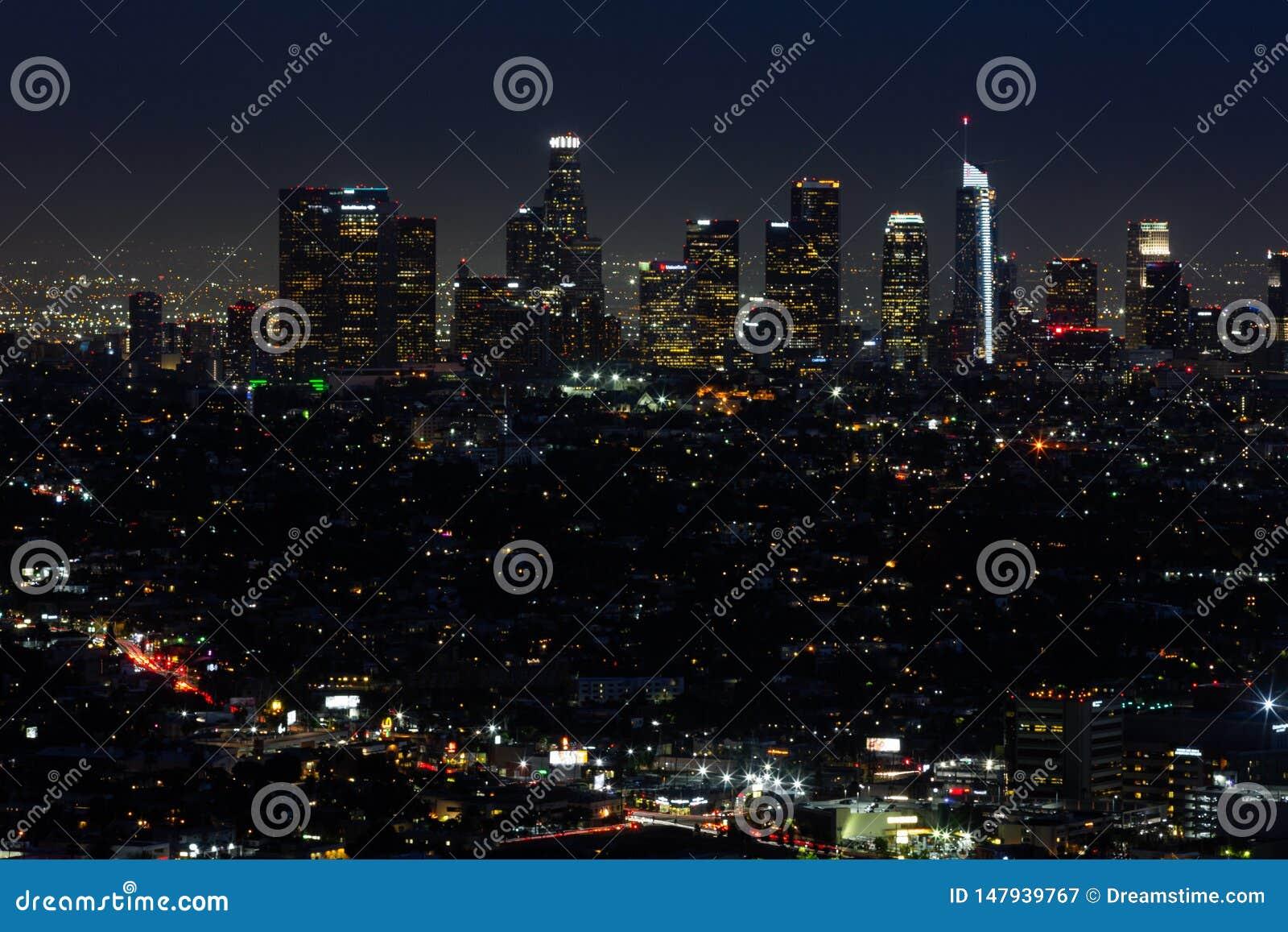 La-horizon bij nacht