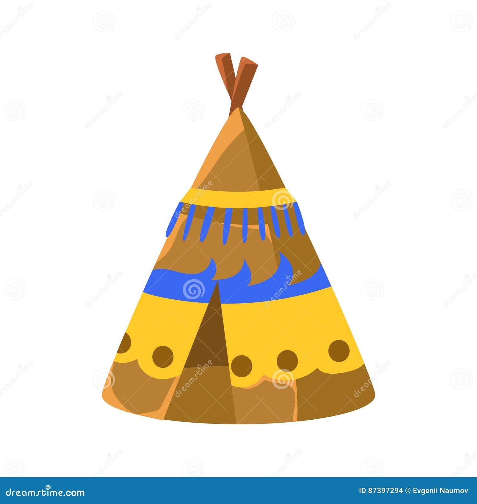 Populaire La Hutte Décorée De Tipi, Symbole Indien Indigène De Culture  WC64