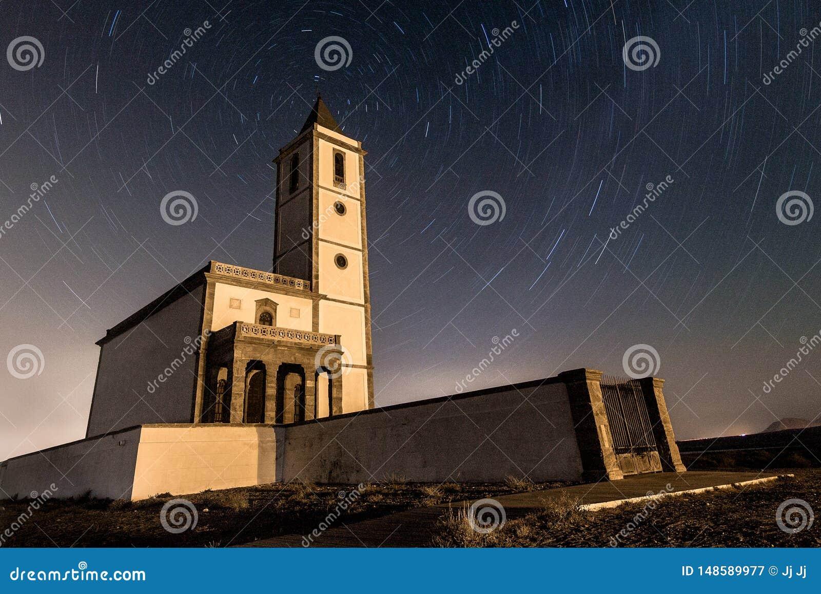 La Iglesia de las Salinas d en de traînée d étoile