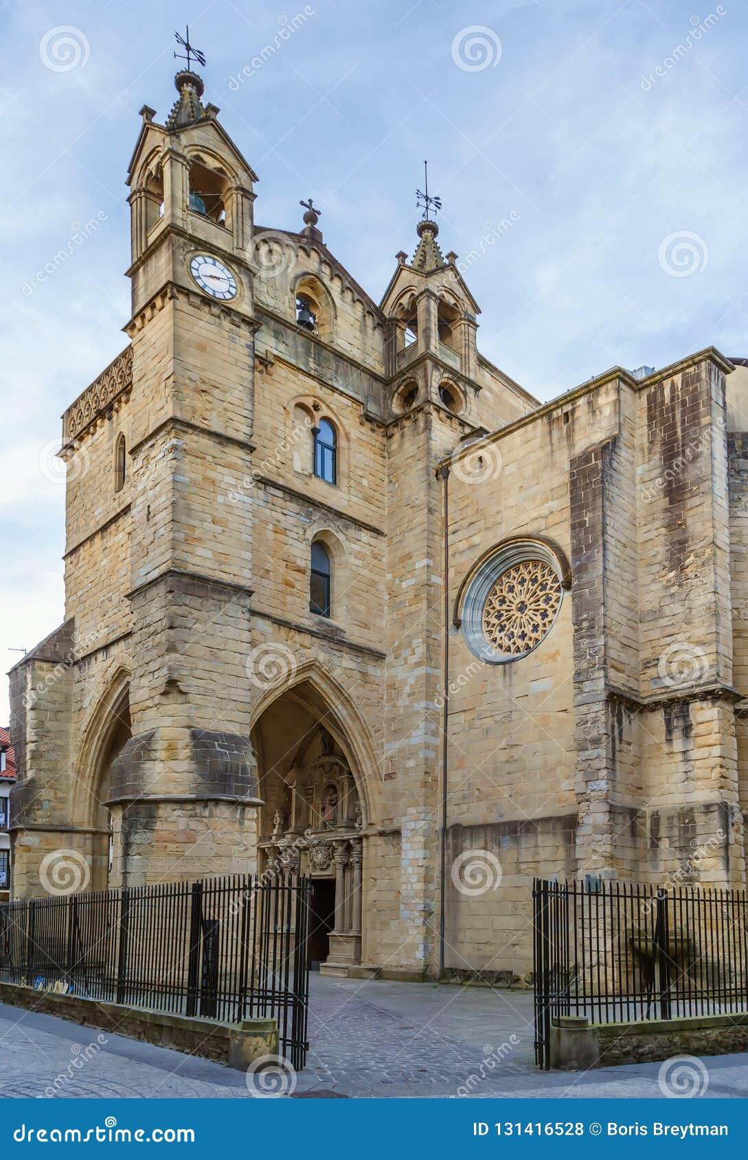La iglesia de San Vicente, f San Sebastian, España