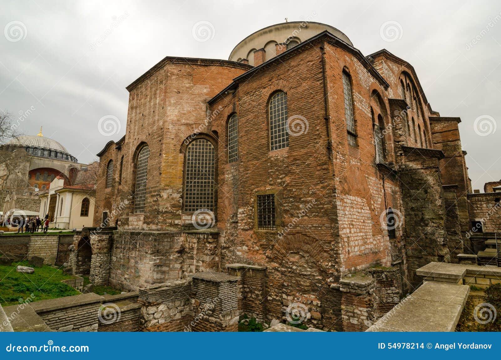 La iglesia de St Irene en Estambul
