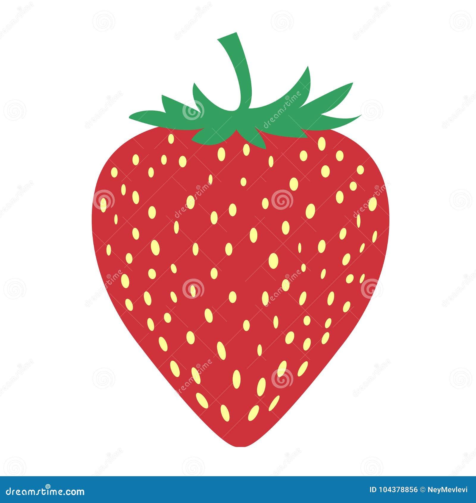 La imagen de la fruta de la fresa es muy simple
