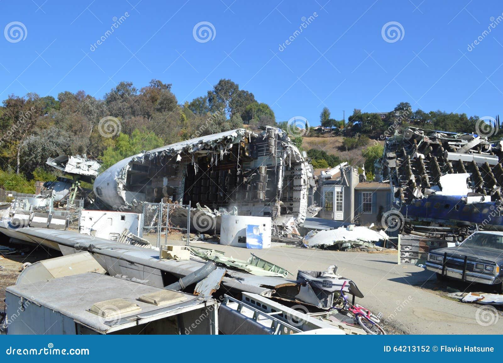 La imagen del accidente de avión