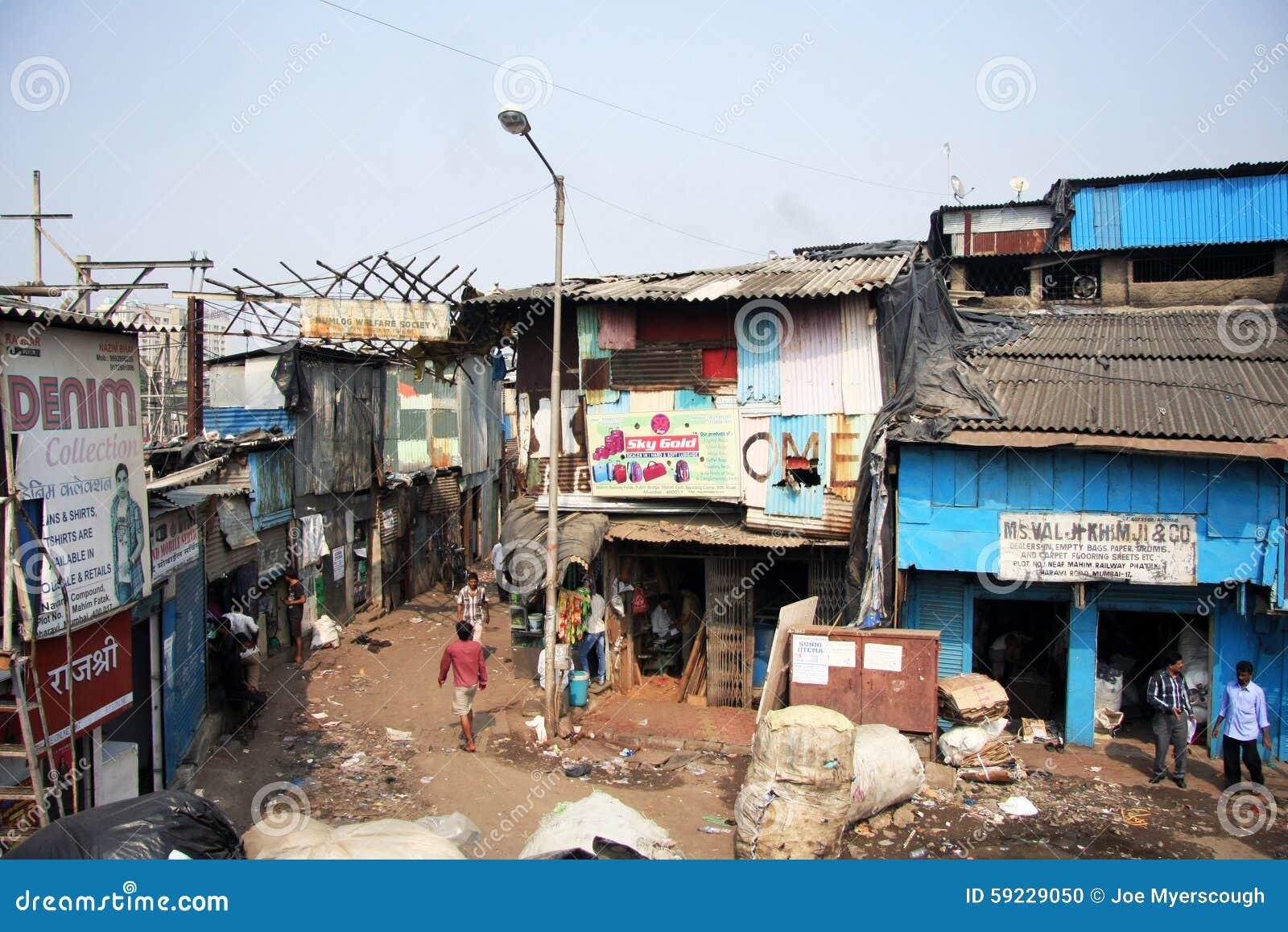 Download La India, Bombay - 19 De Noviembre De 2014: Tugurios Y Talleres De Dharavi Imagen editorial - Imagen de bombay, azoteas: 59229050