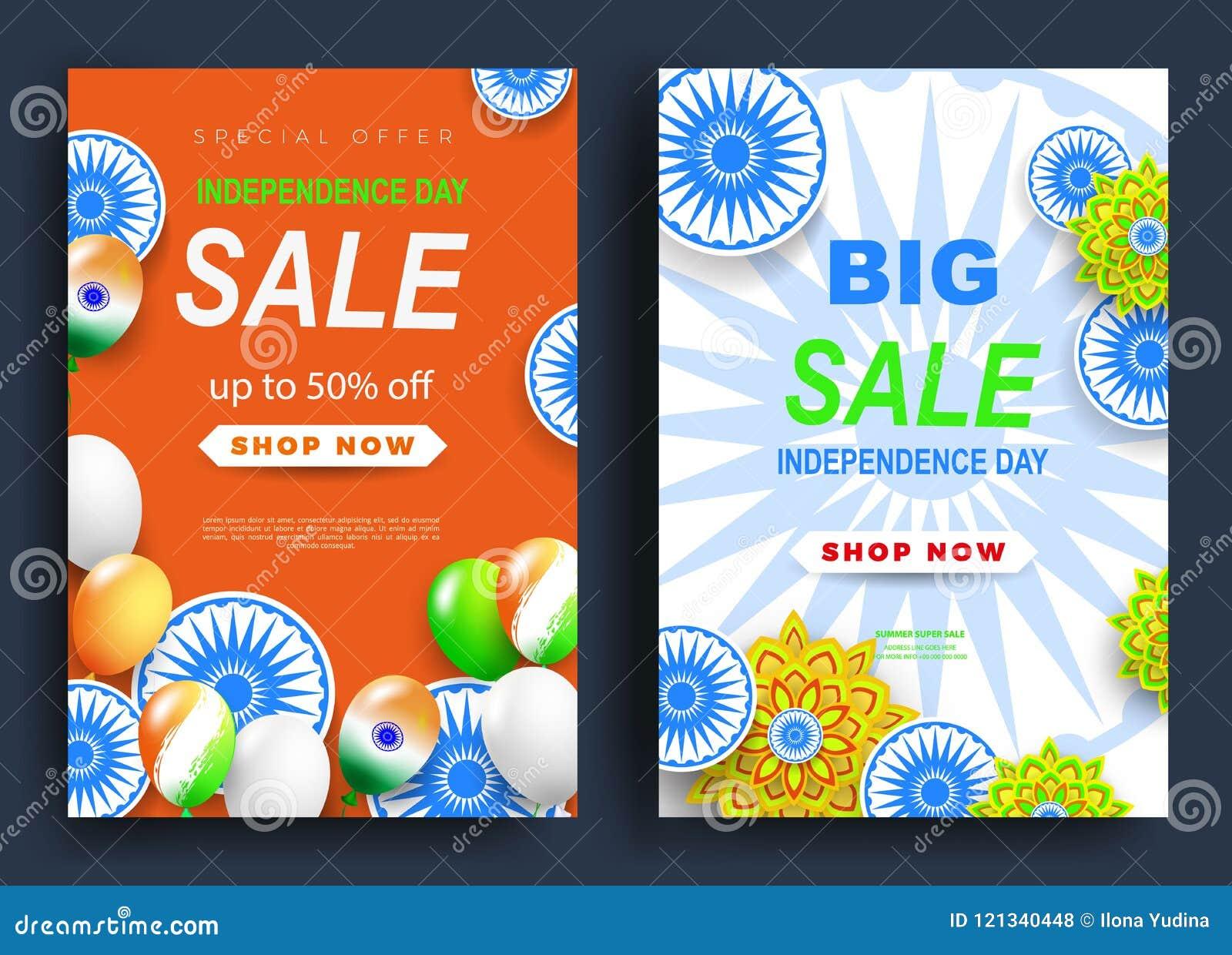 La India, Día De La Independencia Diseño Feliz Con Las Flores ...