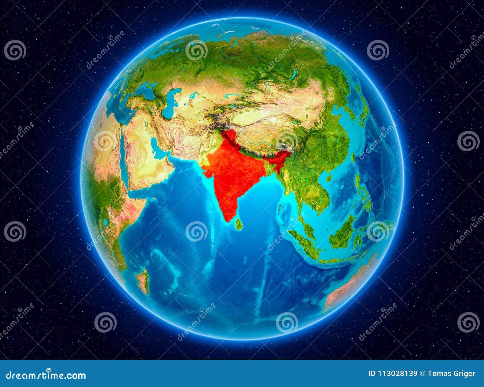 La India en la tierra