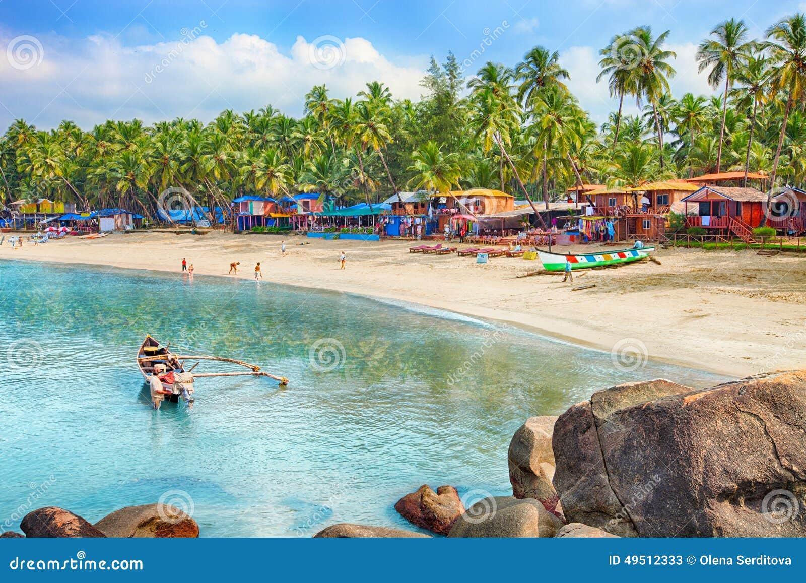 La India, Goa, playa de Palolem