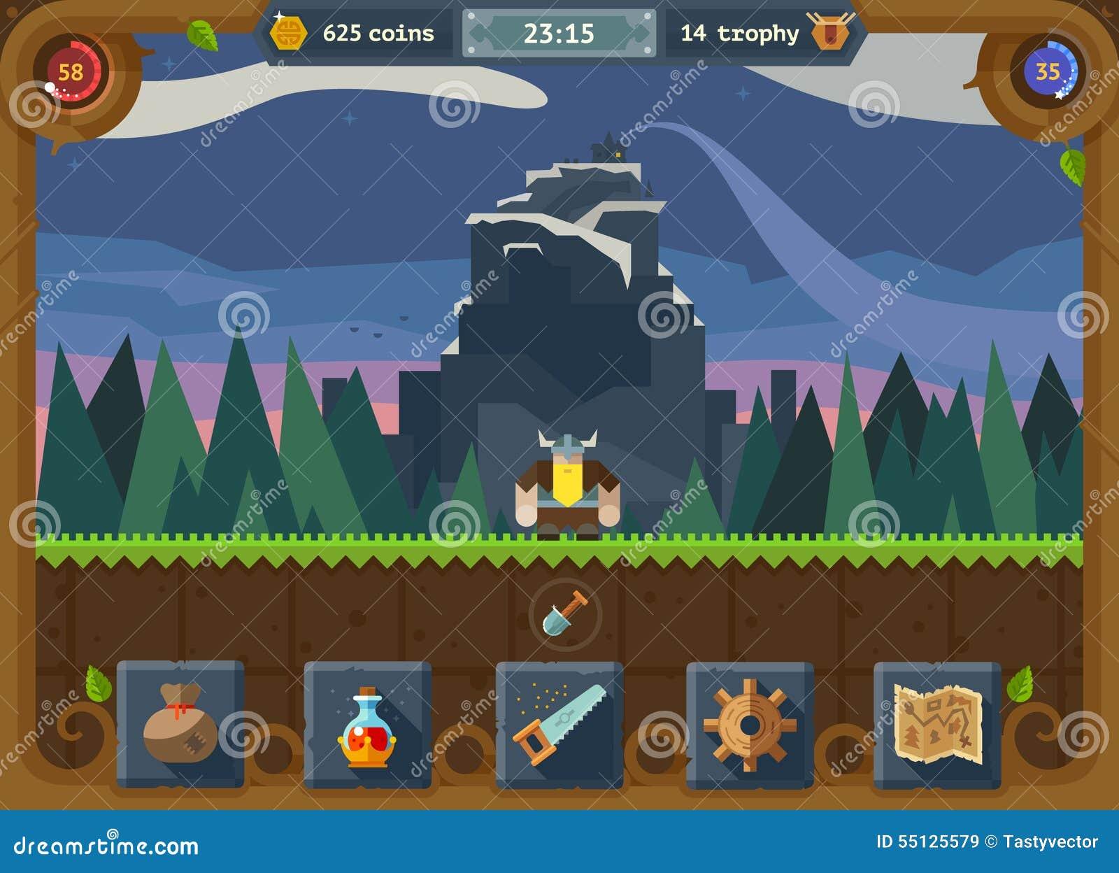 La interfaz de usuario para el juego