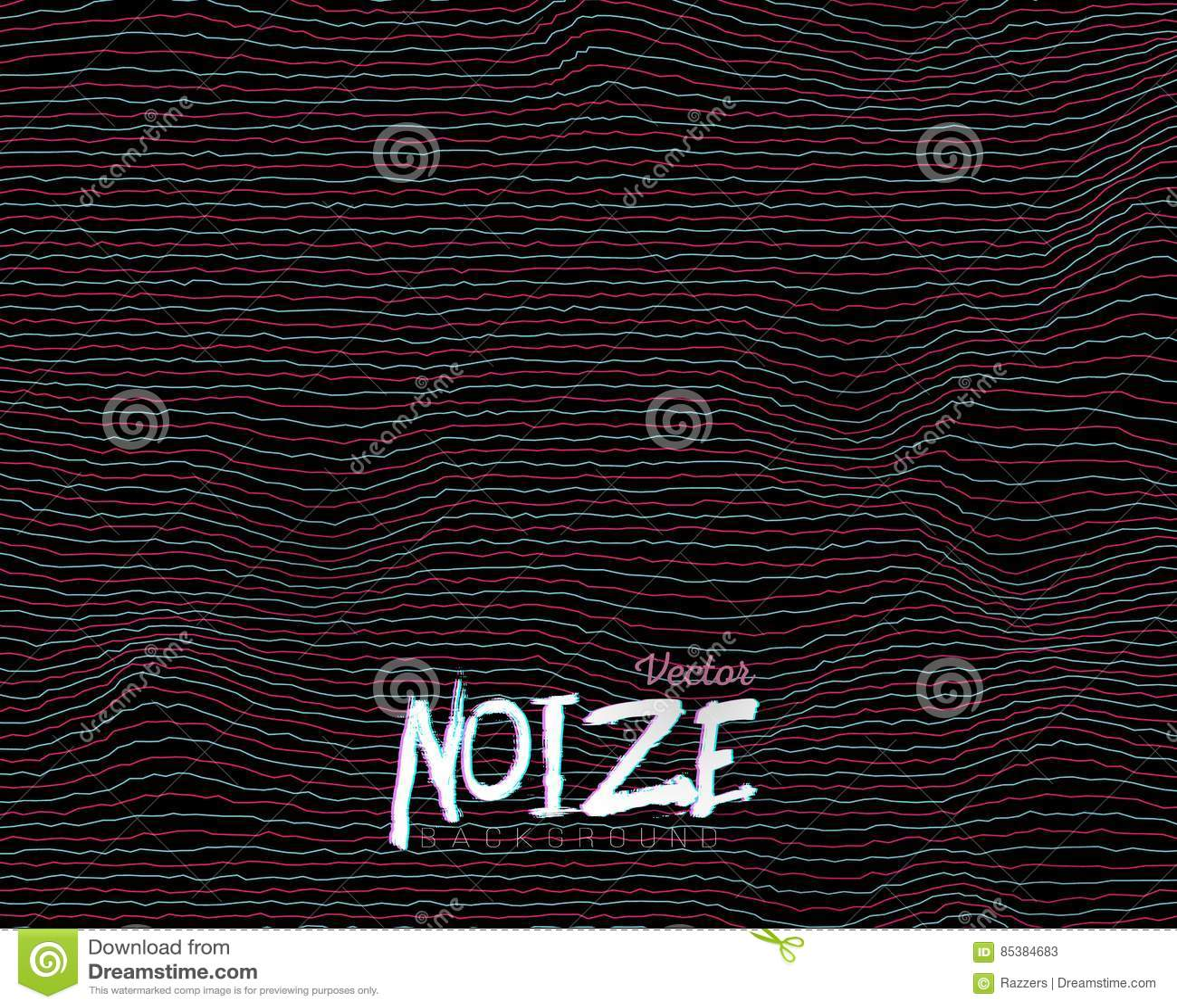 La Interferencia De Digitaces Noize Alinea El Fondo Ilustración del ...