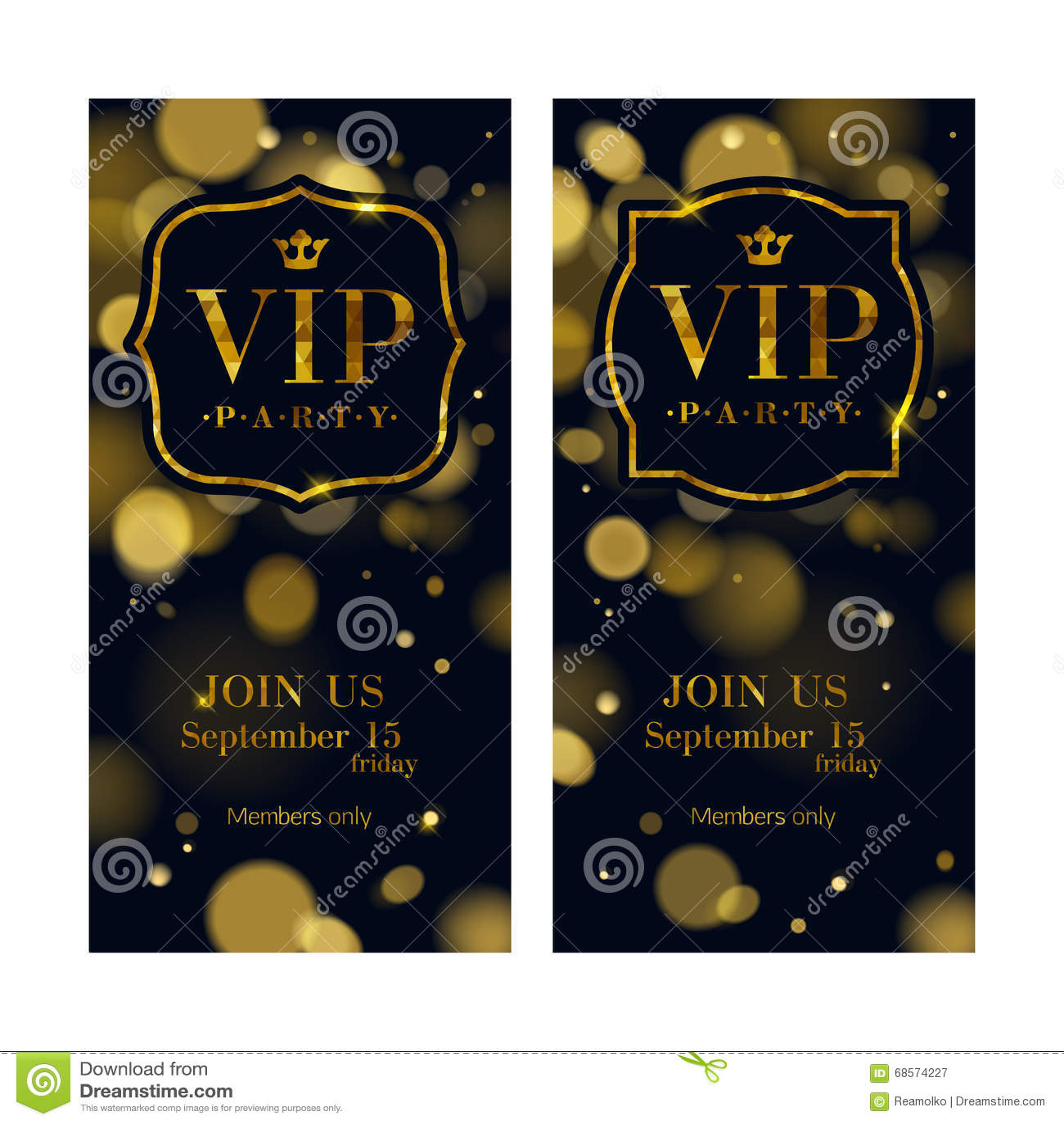 La invitación del VIP carda la plantilla superior del diseño