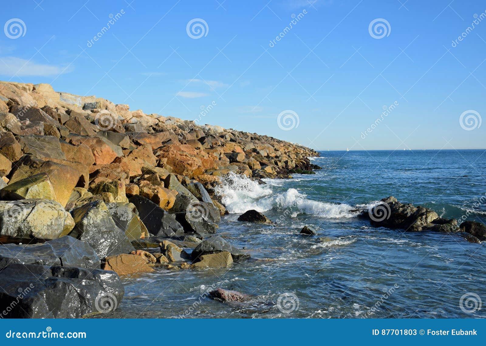 La jetée chez Dana Point Harbor, la Californie du sud