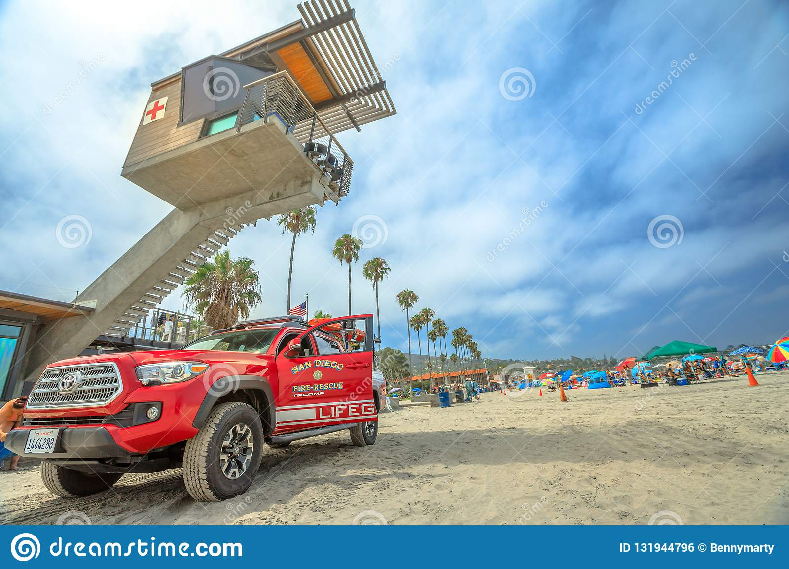 Lifeguard Fire-rescue And Tower Editorial Photo - Image of