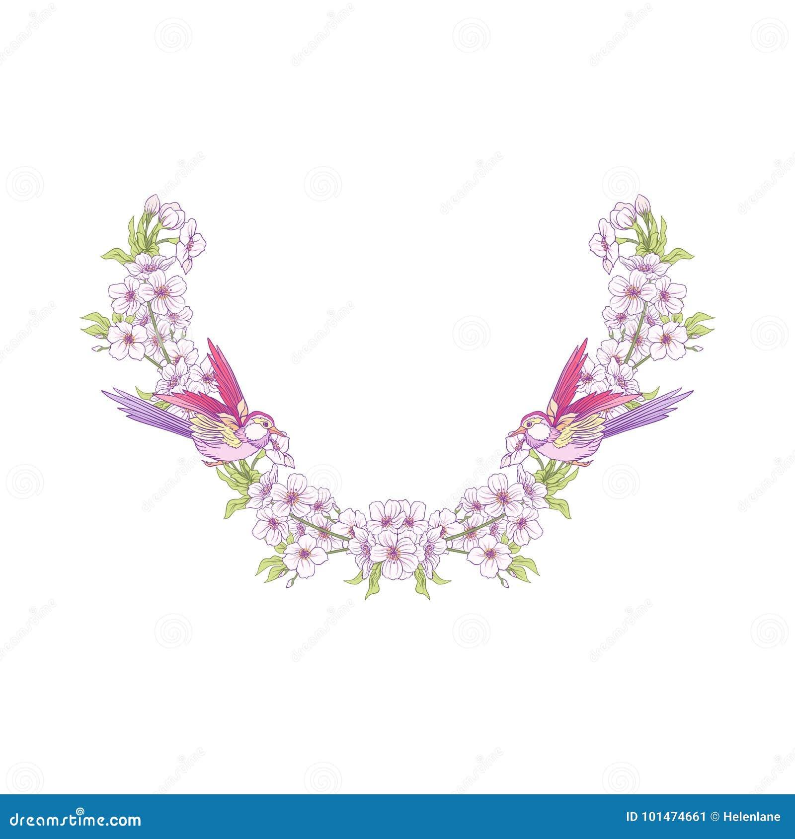 La línea bordado del cuello diseña con un modelo de flores y del branc