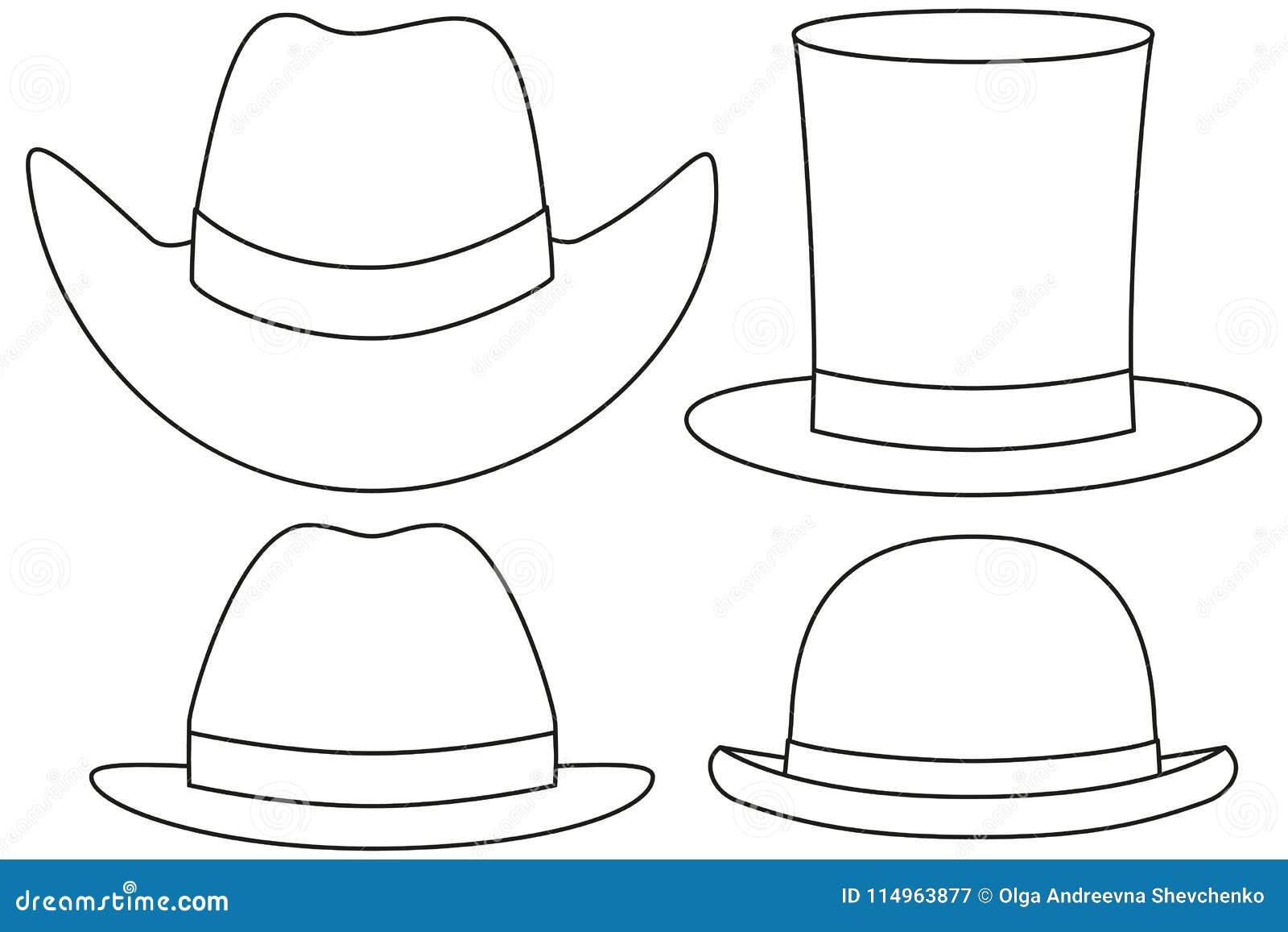 La línea sombrero blanco y negro del arte fijó el elemento 4 Ejemplo  temático del vector del inconformista para la etiqueta engomada del  certificado del ... 16fec5009c6