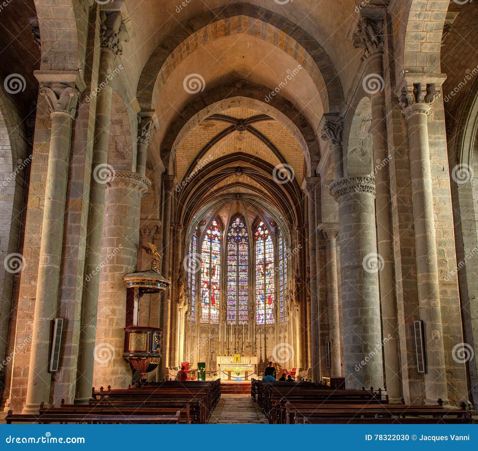 La La de dans de Saint Nazaire de Basilique de La citent De Carcassonne - Aude et x28 ; France& x29 ;