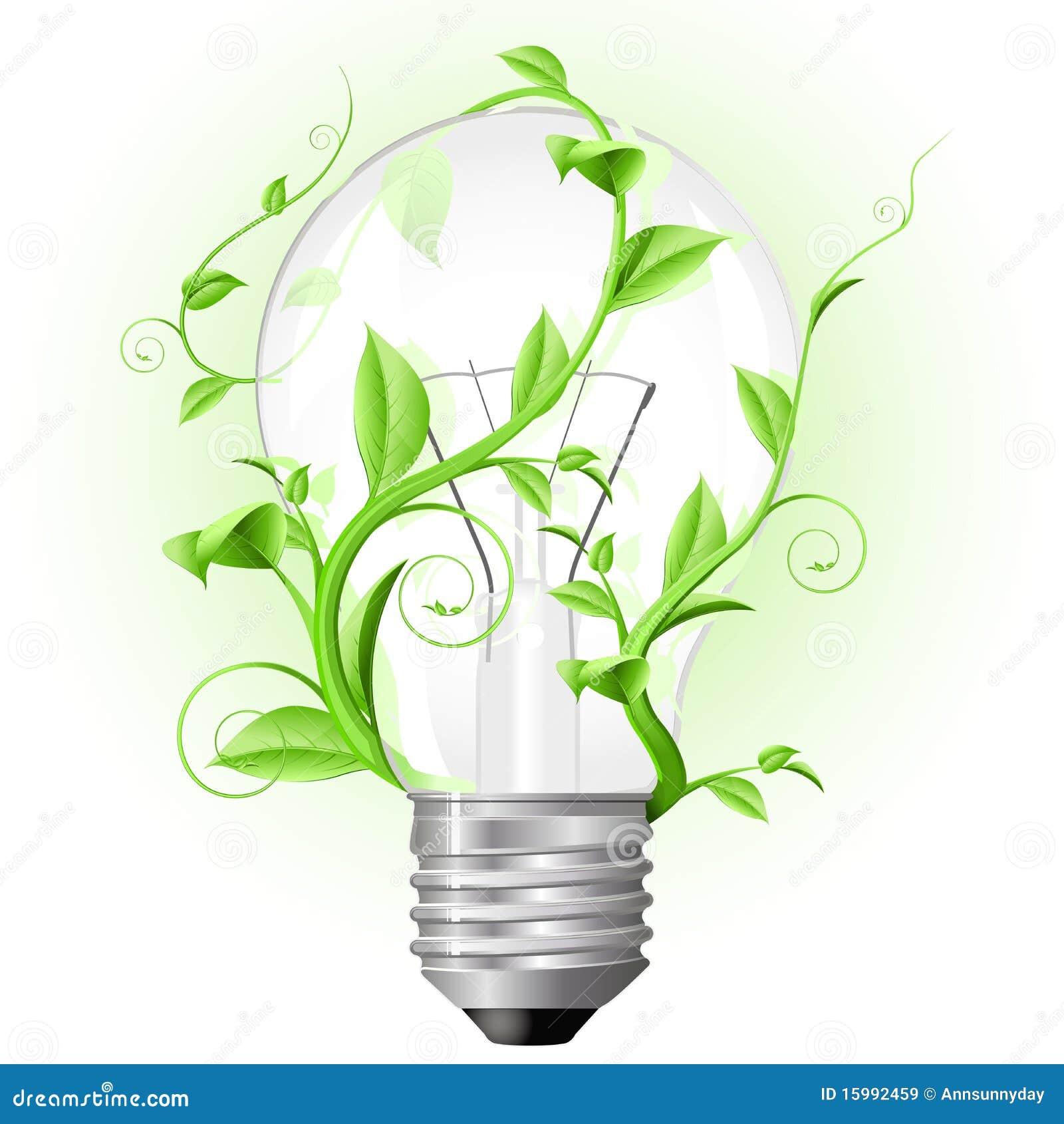 La lampadina ha torto con la pianta illustrazione for Pianta con la i