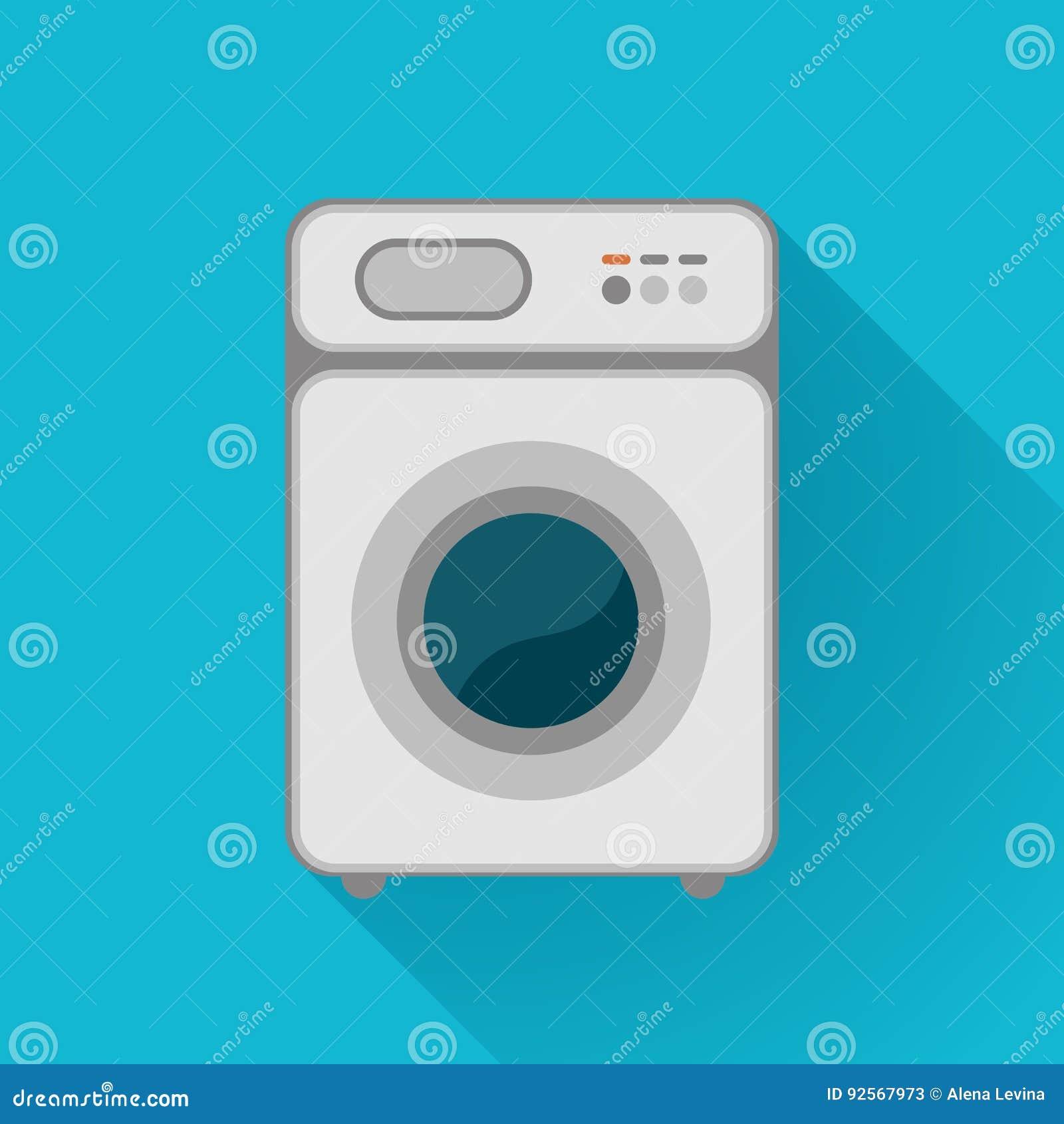 La lavatrice ha isolato Vista frontale, primo piano