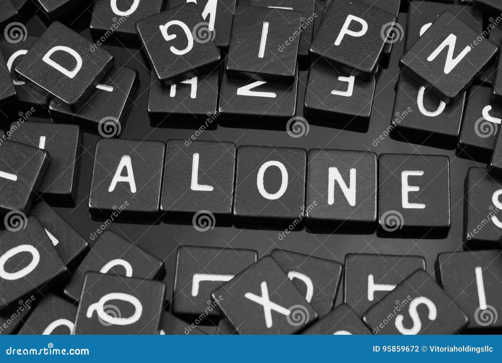 La lettera nera piastrella l ortografia la parola & del x22; alone& x22;