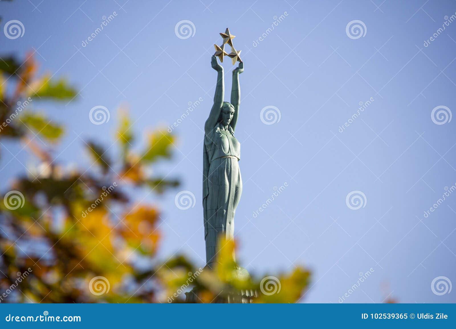 La Lettonie : Monument de liberté de Riga