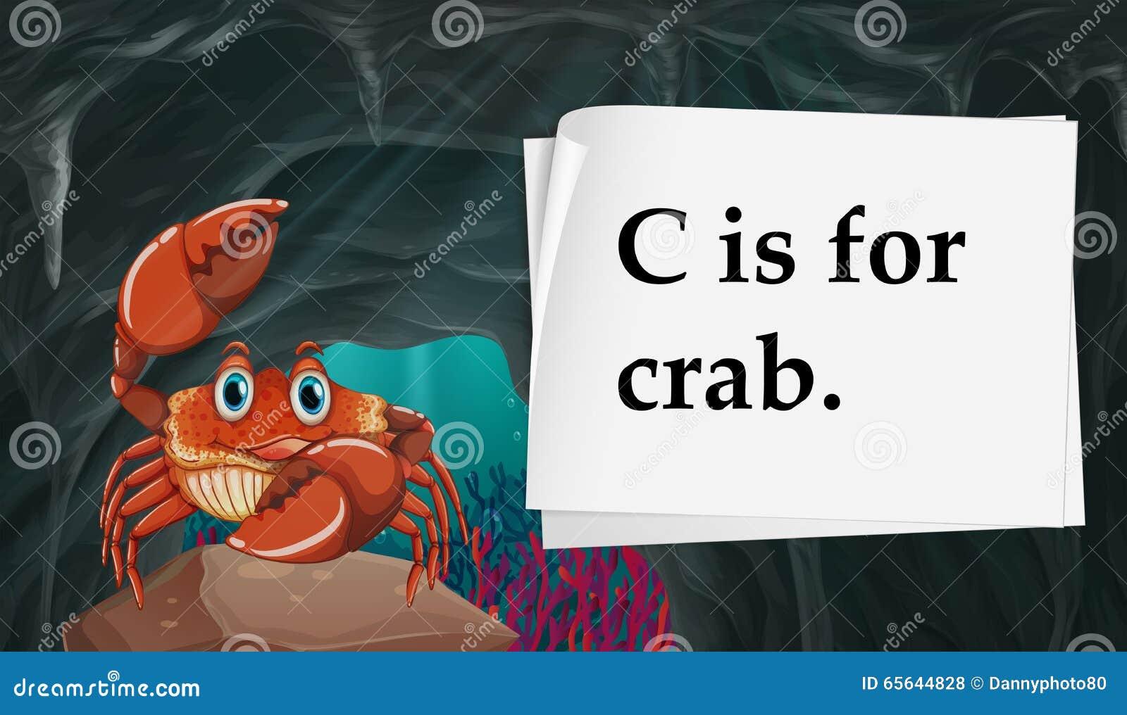 La lettre C est pour le crabe
