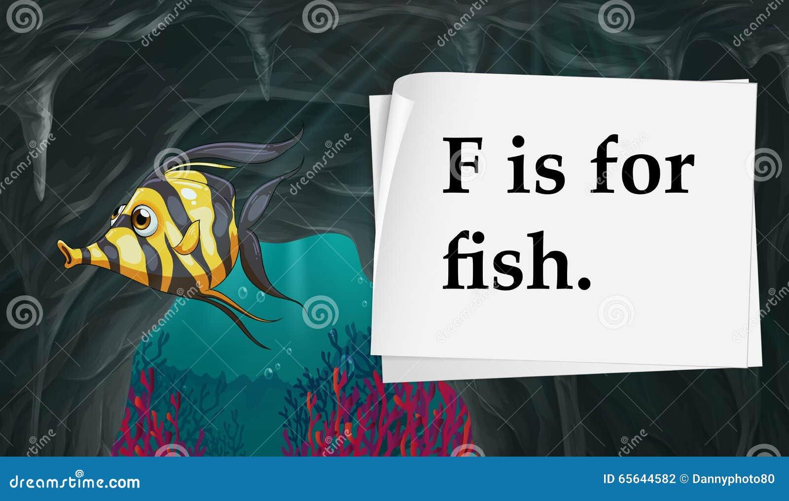 La lettre F est pour des poissons