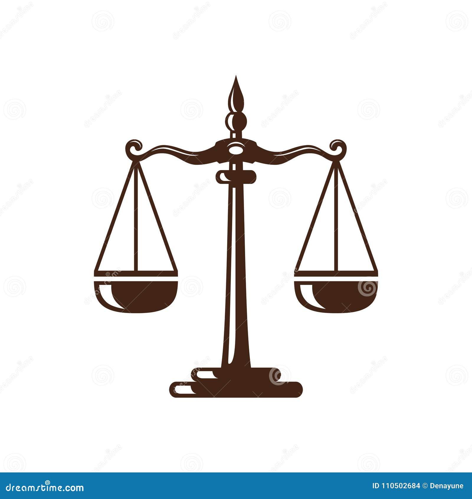 La ley y el logotipo del abogado, la ley elegante y el logotipo firme del vector del abogado diseñan
