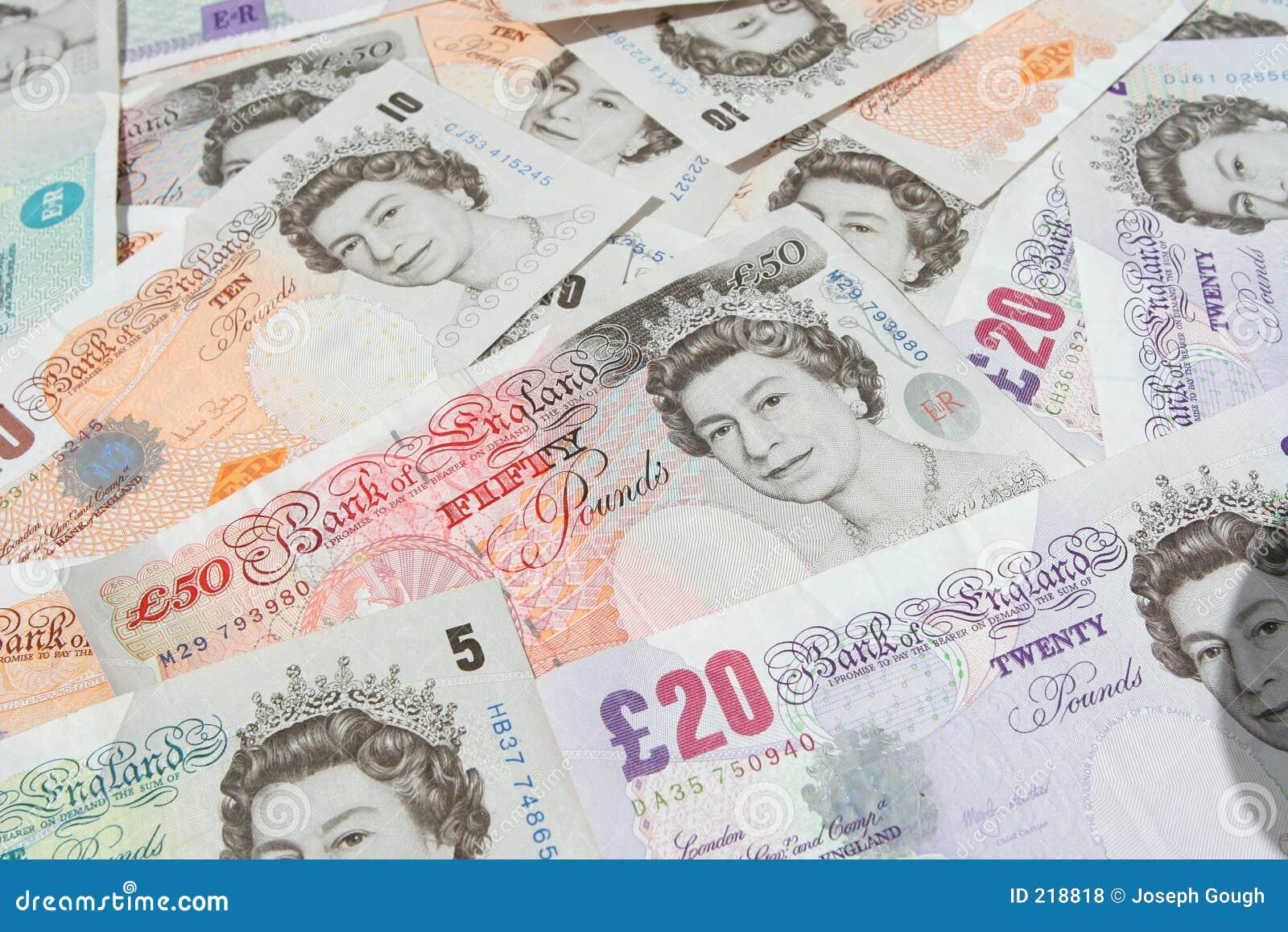 La libbra di Britsh nota la valuta