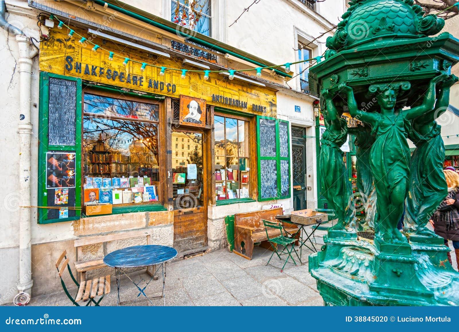 La libreria di co. e di shakespeare a parigi. immagine editoriale