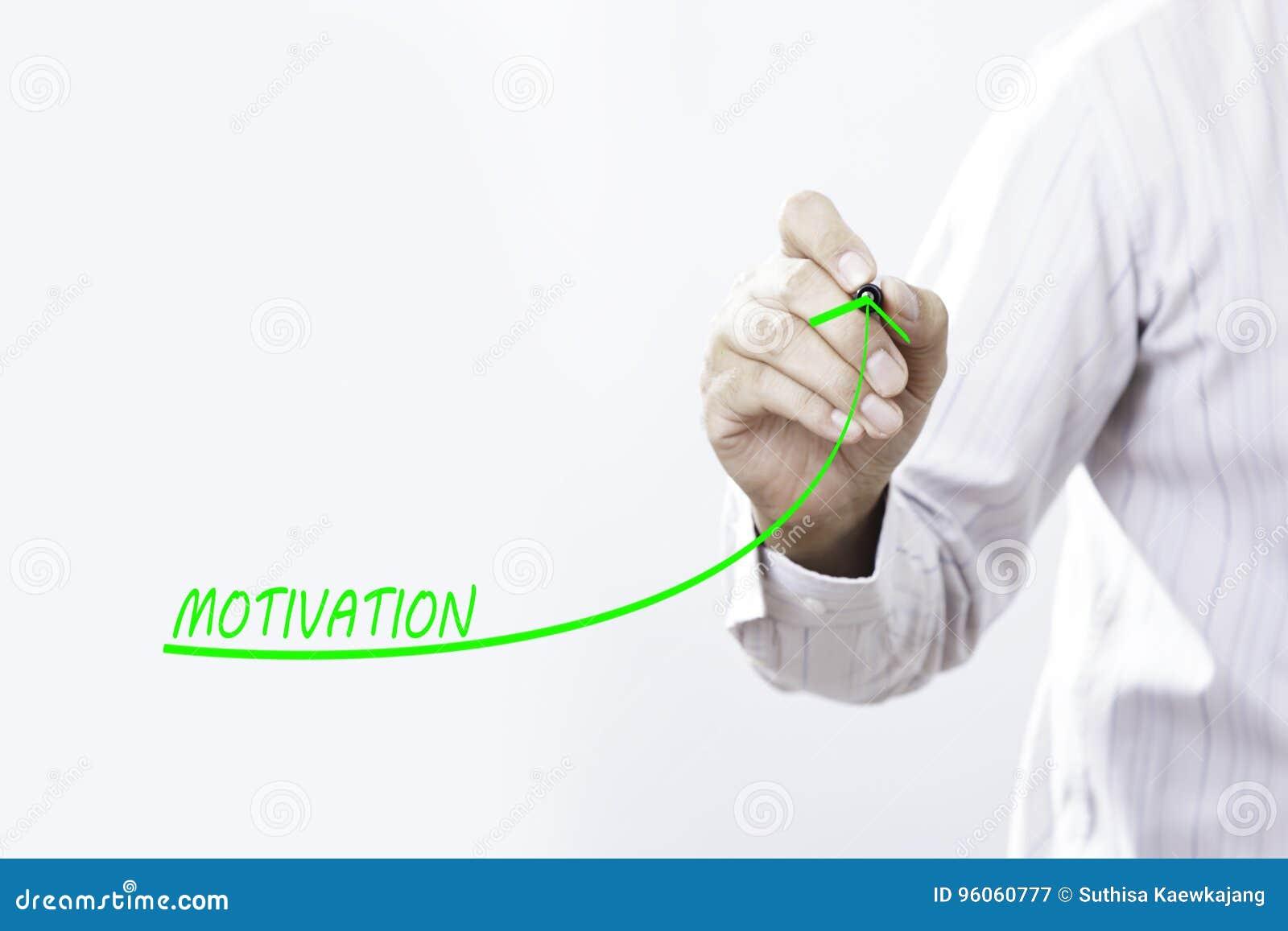 La ligne croissante d aspiration d homme d affaires symbolisent la motivation croissante