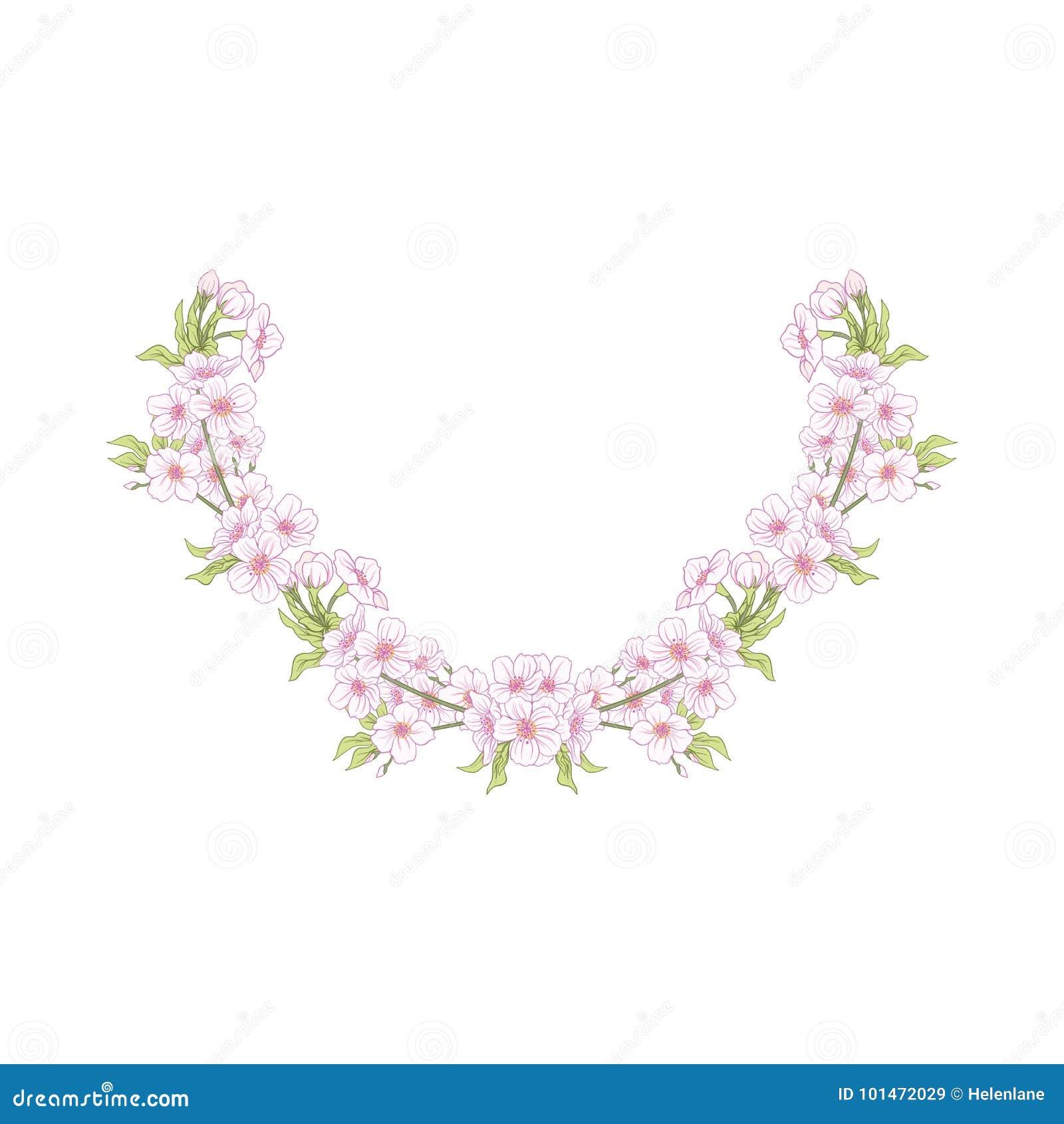 La linea ricamo del collo progetta con un modello dei fiori e del branc