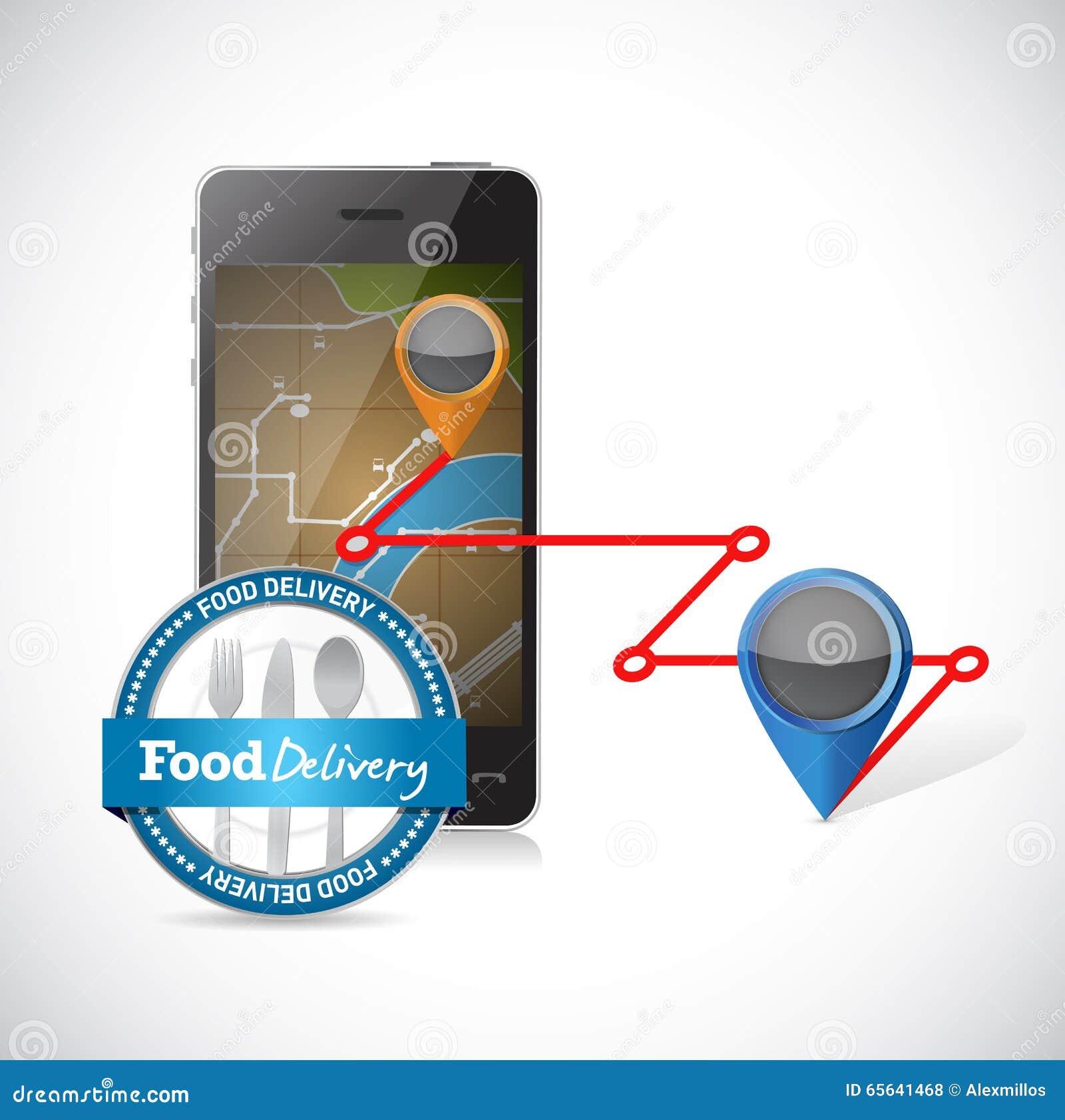 La livraison d ordre utilisant un smartphone