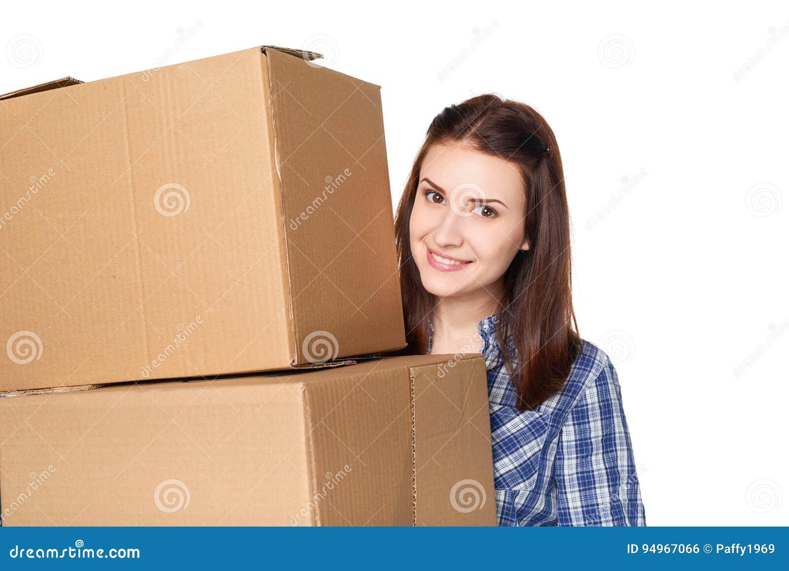 La livraison, relocalisation et concept de déballage