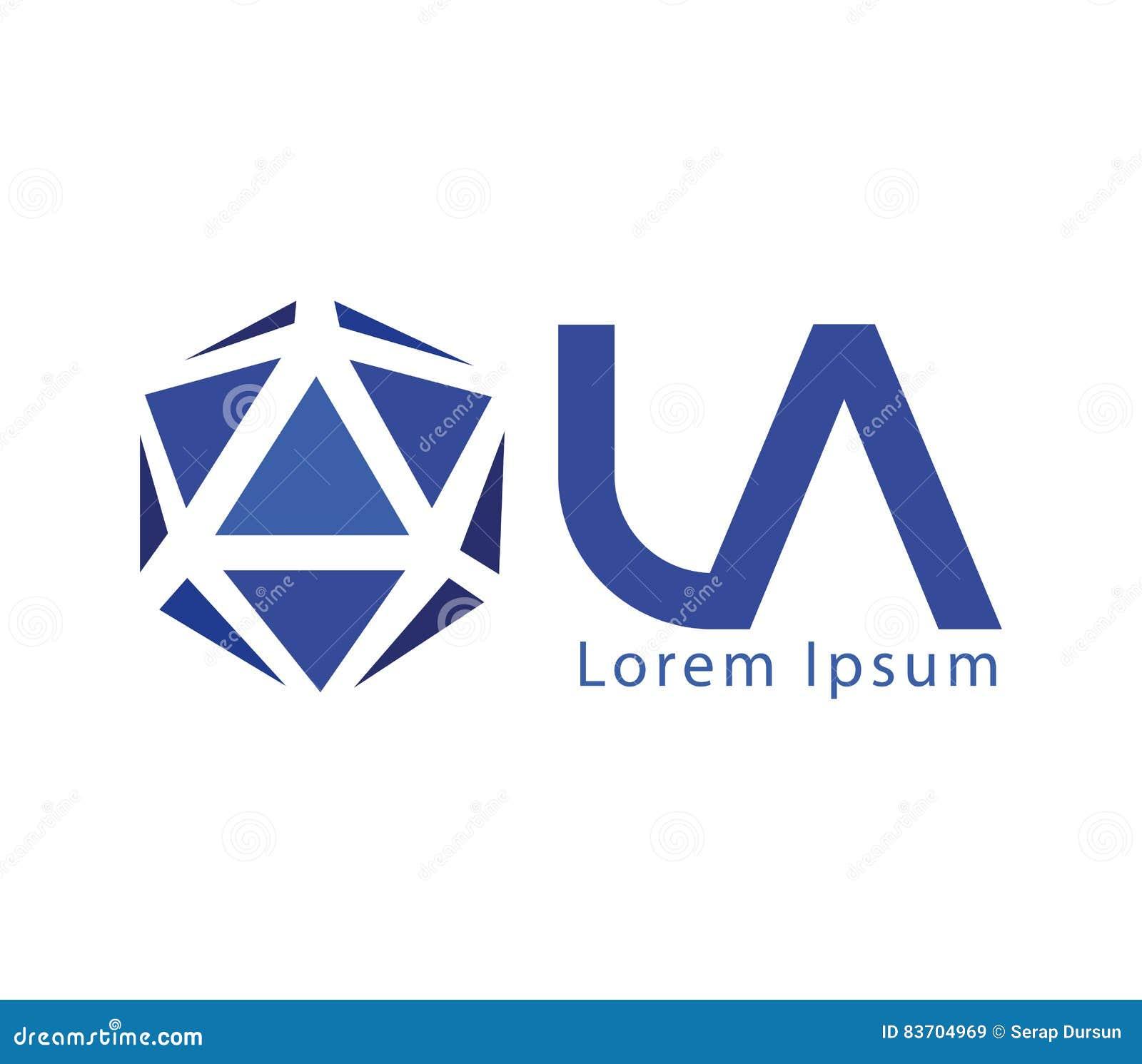 LA Logo Design Concept Stock Illustration