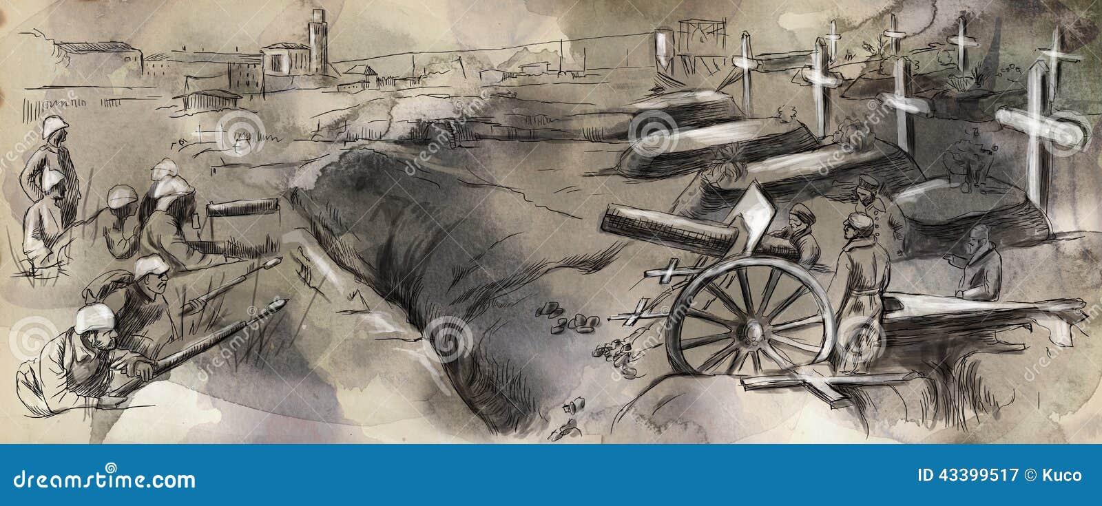 La lucha en los fosos - dé el illustra exhausto