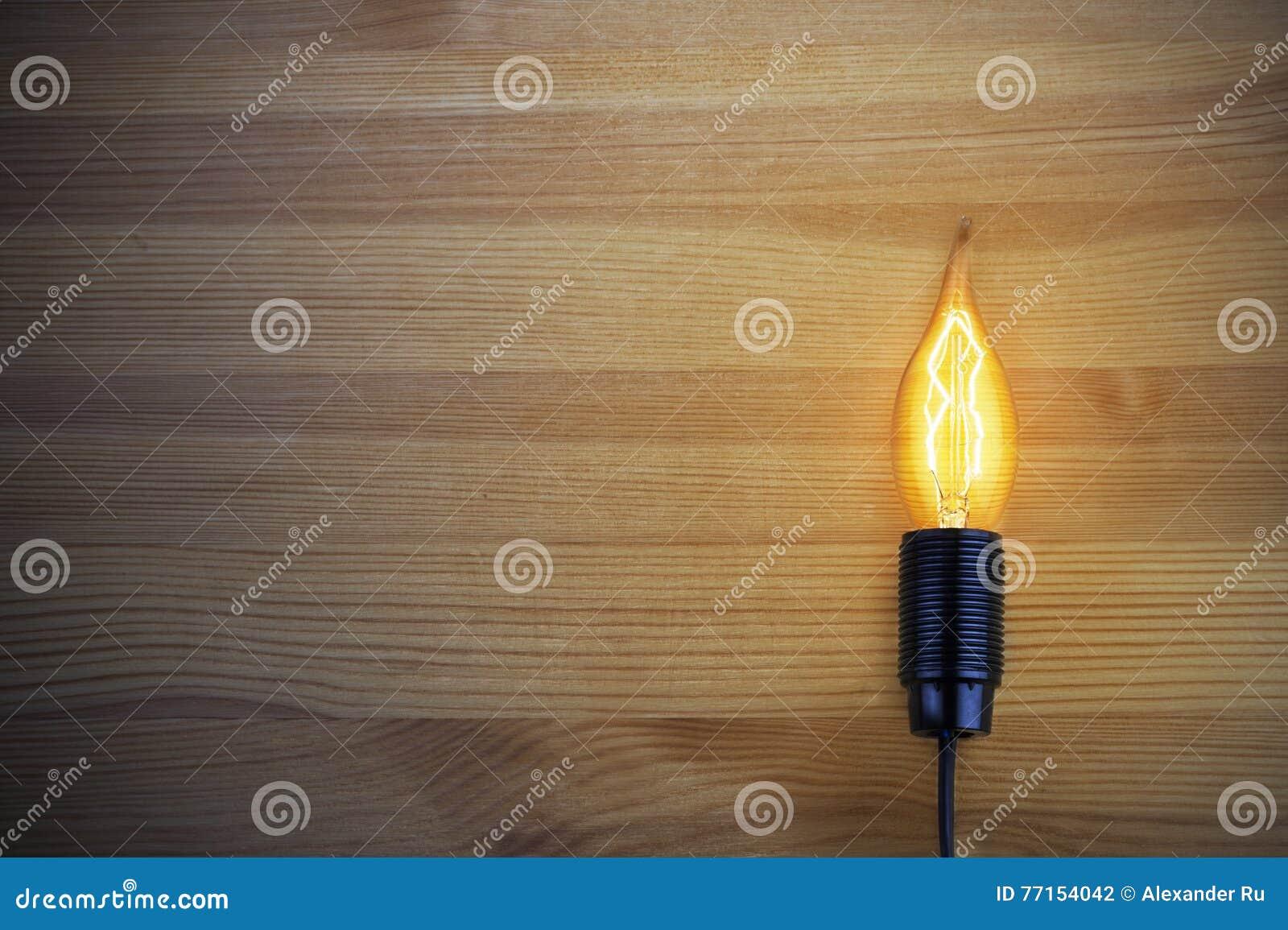 La lumière d une lampe à incandescence