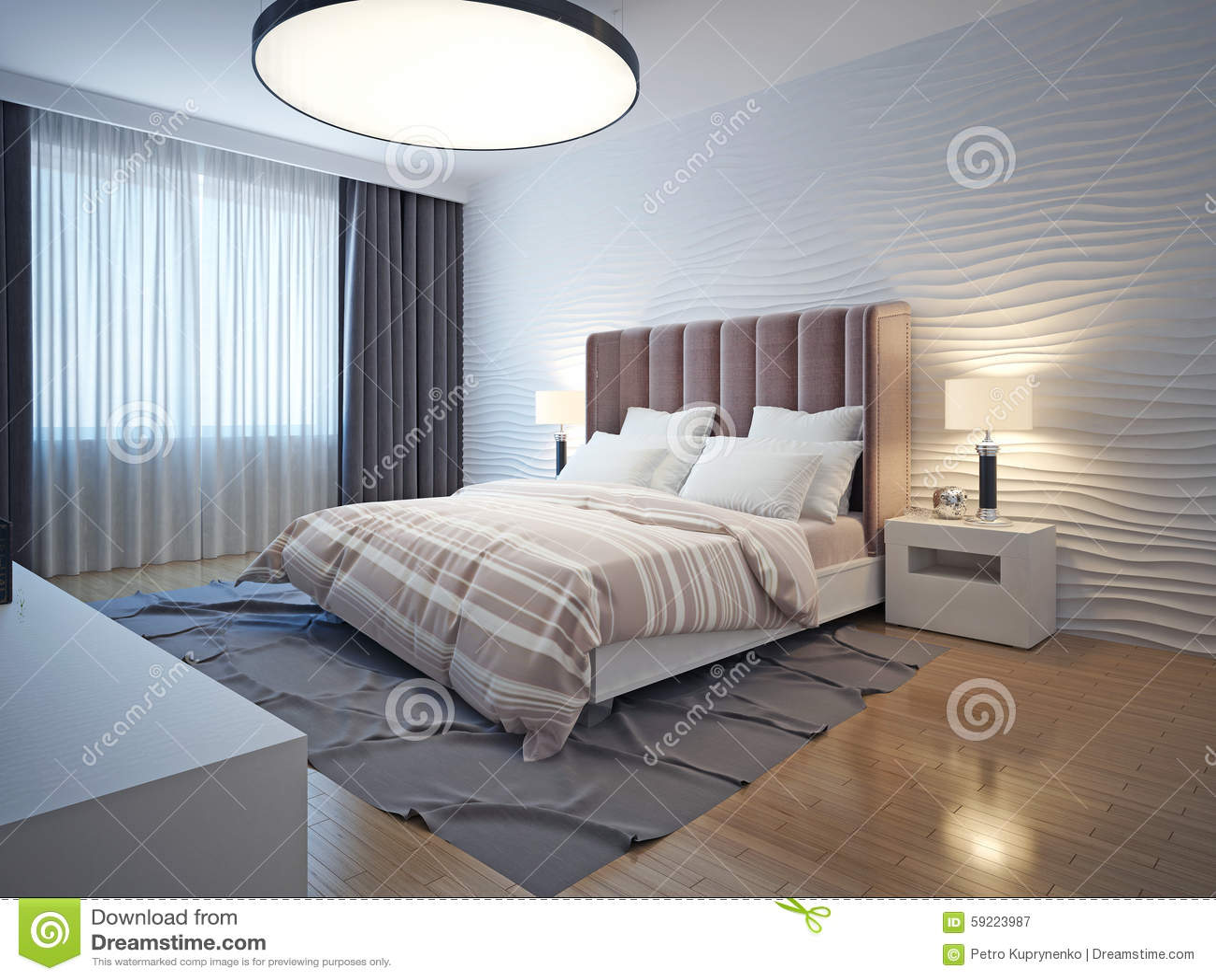 La Lumière Modifie La Tonalité L Intérieur Moderne De Chambre à Coucher