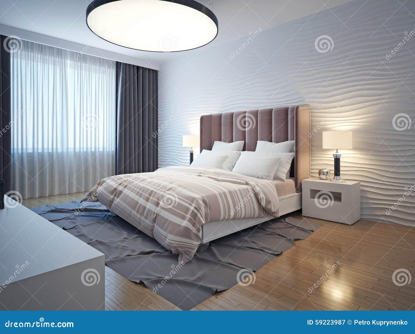 Chambre de nuit dans platre for Chambre de nuit moderne