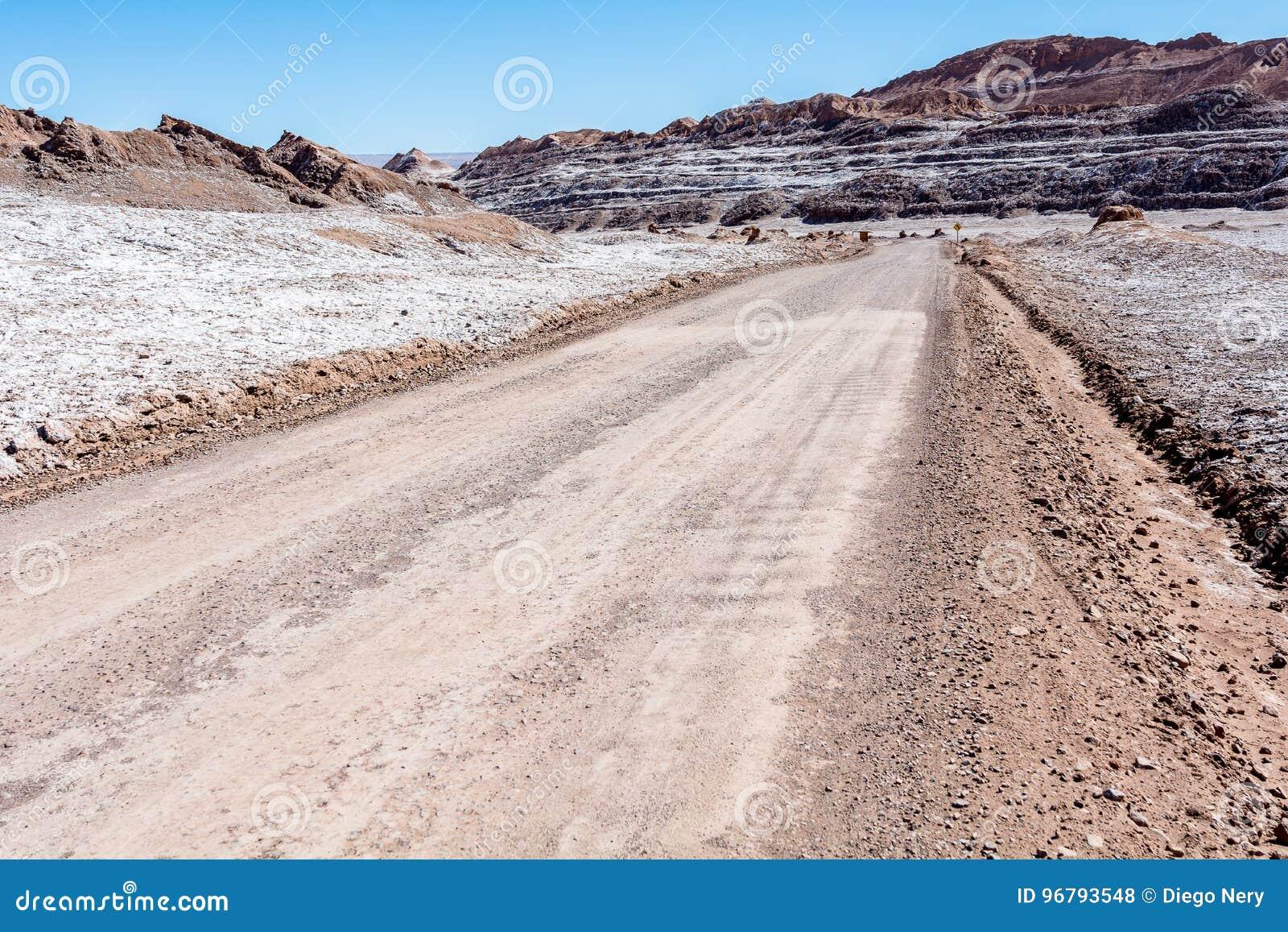 La Luna de Valle de - deserto de Atacama