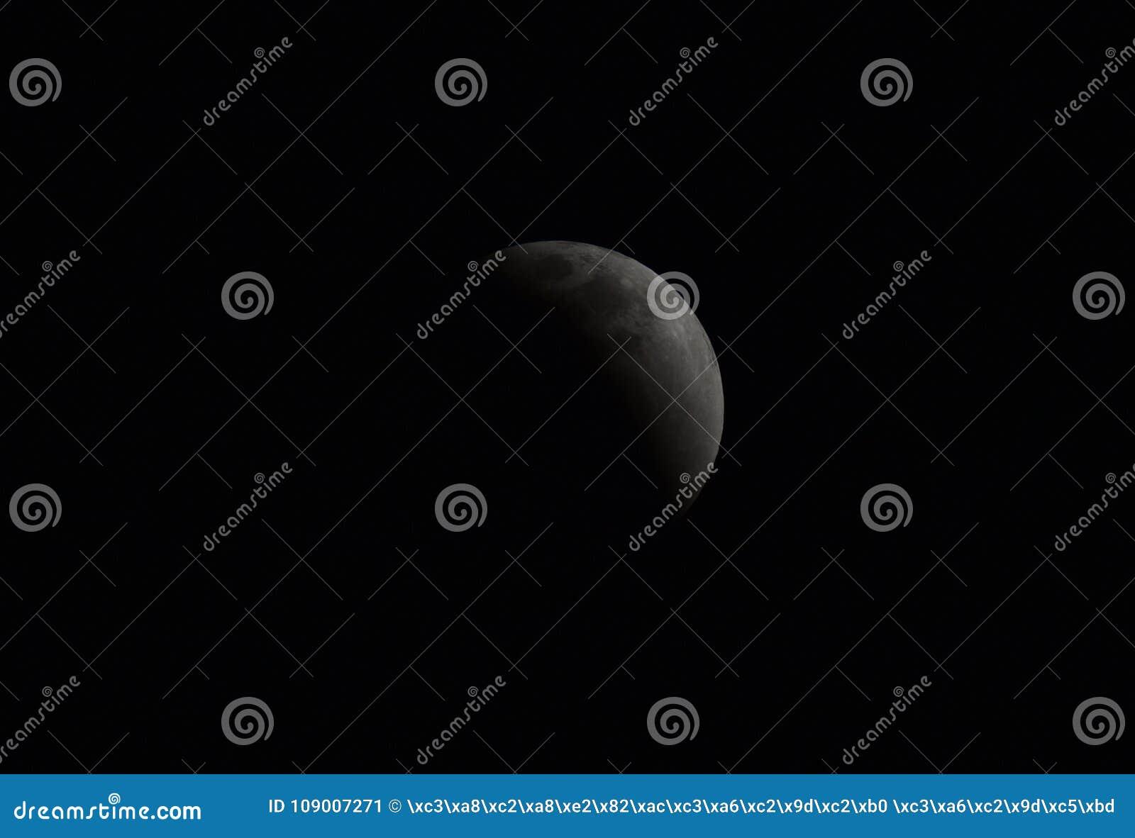 La luna en el 31 de enero de 2018
