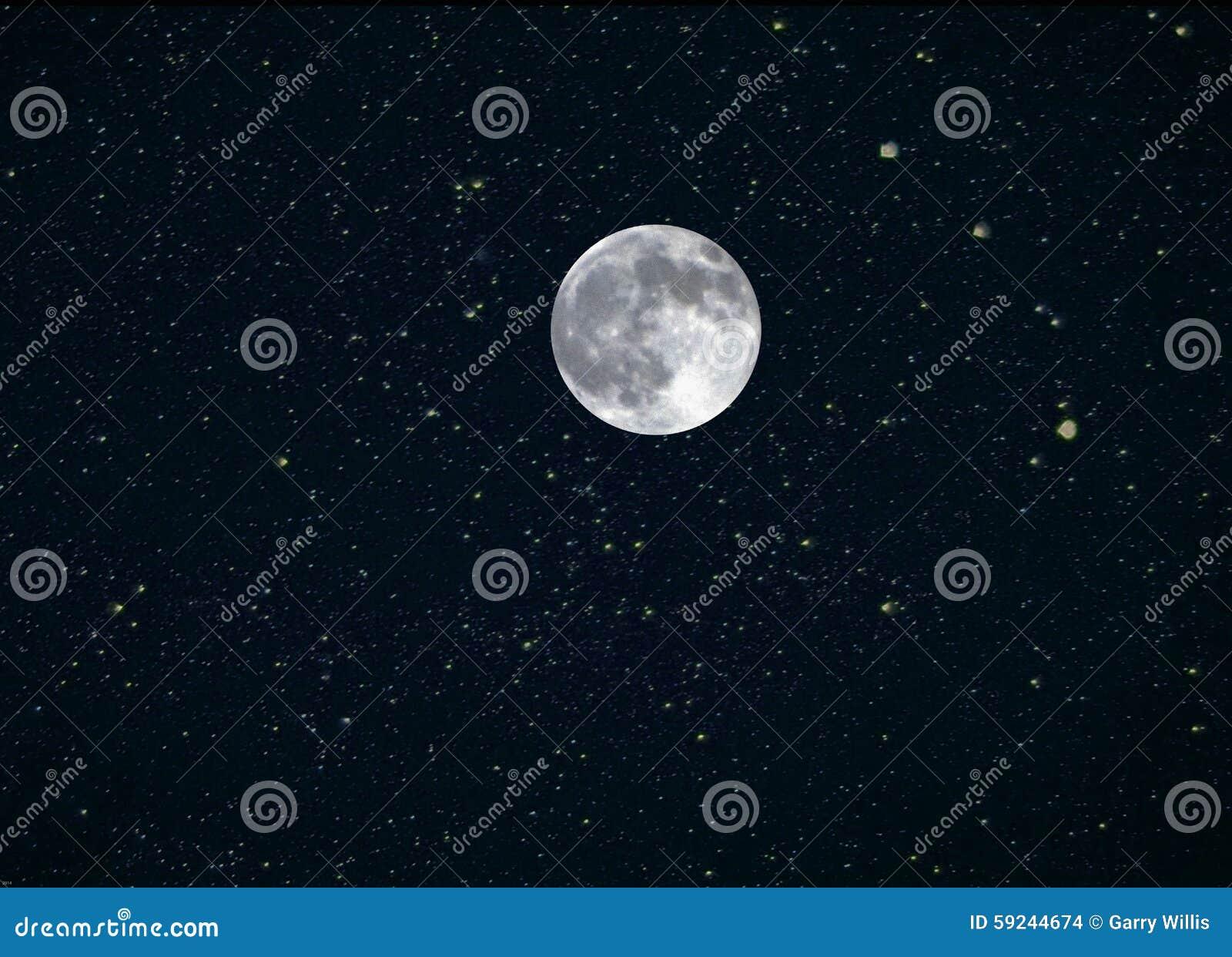 Download La Luna Protagoniza El Compuesto Foto de archivo - Imagen de luna, azul: 59244674