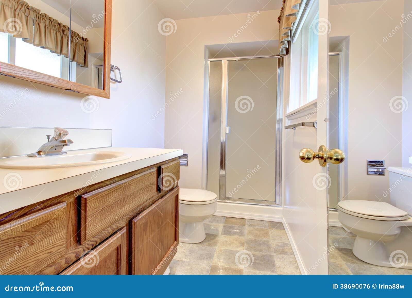 Gabinete Para Baño Una Puerta Inval:White Bathroom Wall Cabinet with Glass Doors