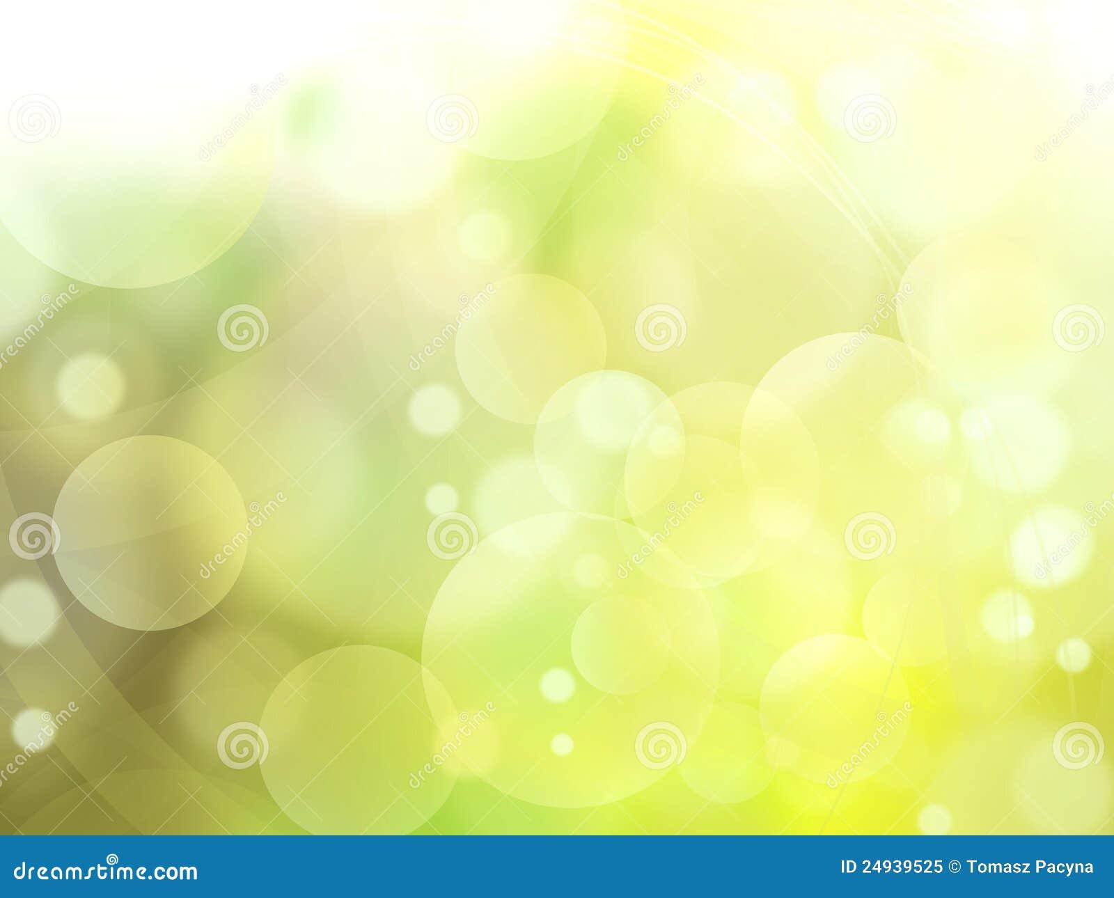La luz verde burbujea fondo abstracto