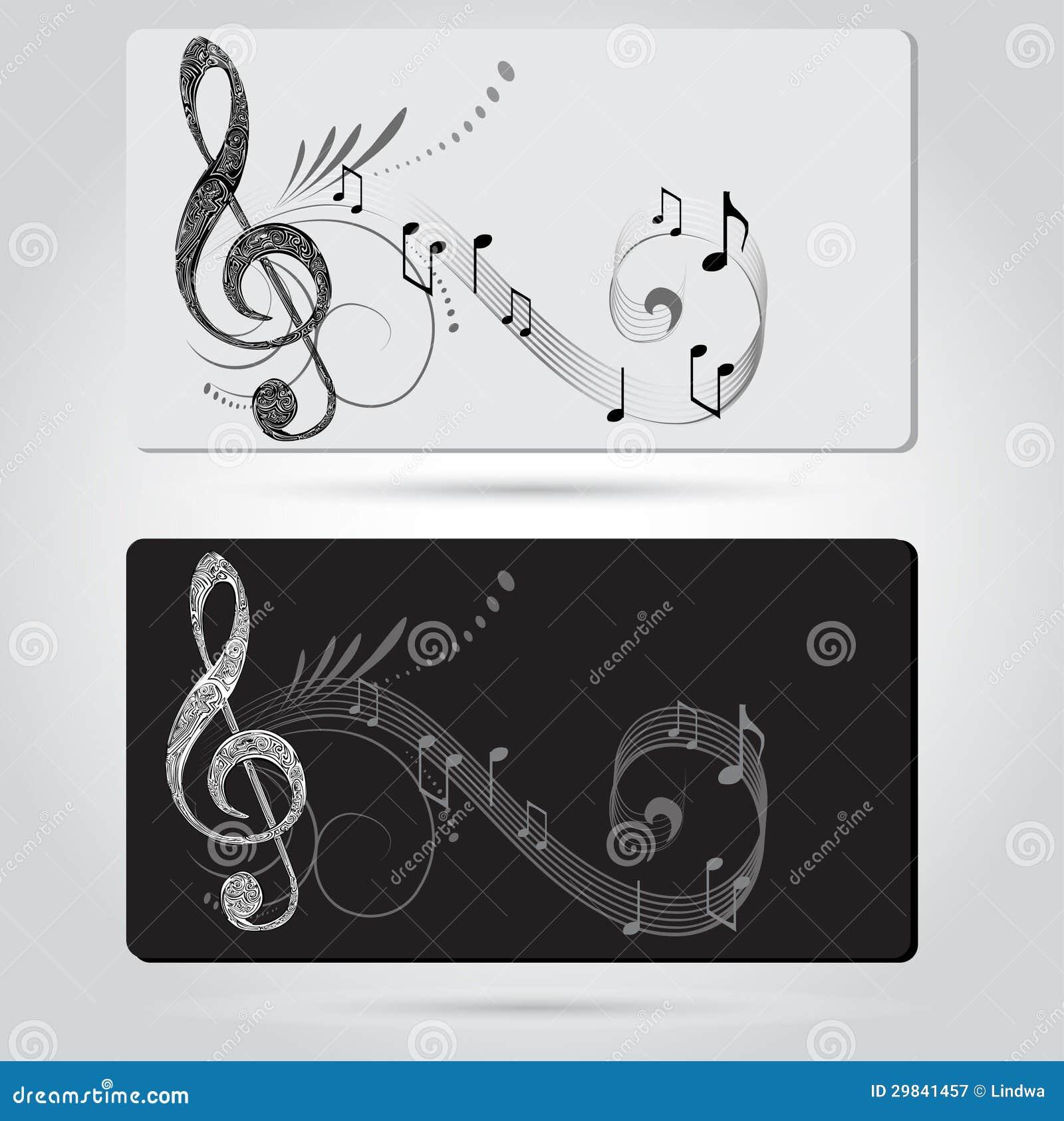 La música carda plantillas ilustración del vector. Ilustración de ...