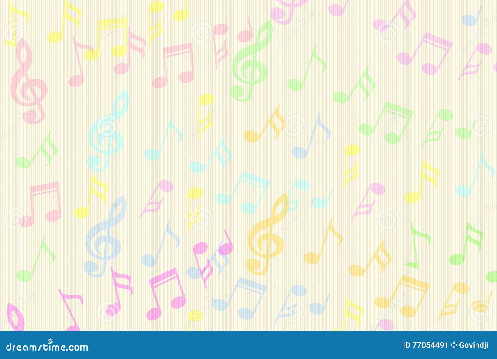La música colorida hermosa observa el fondo