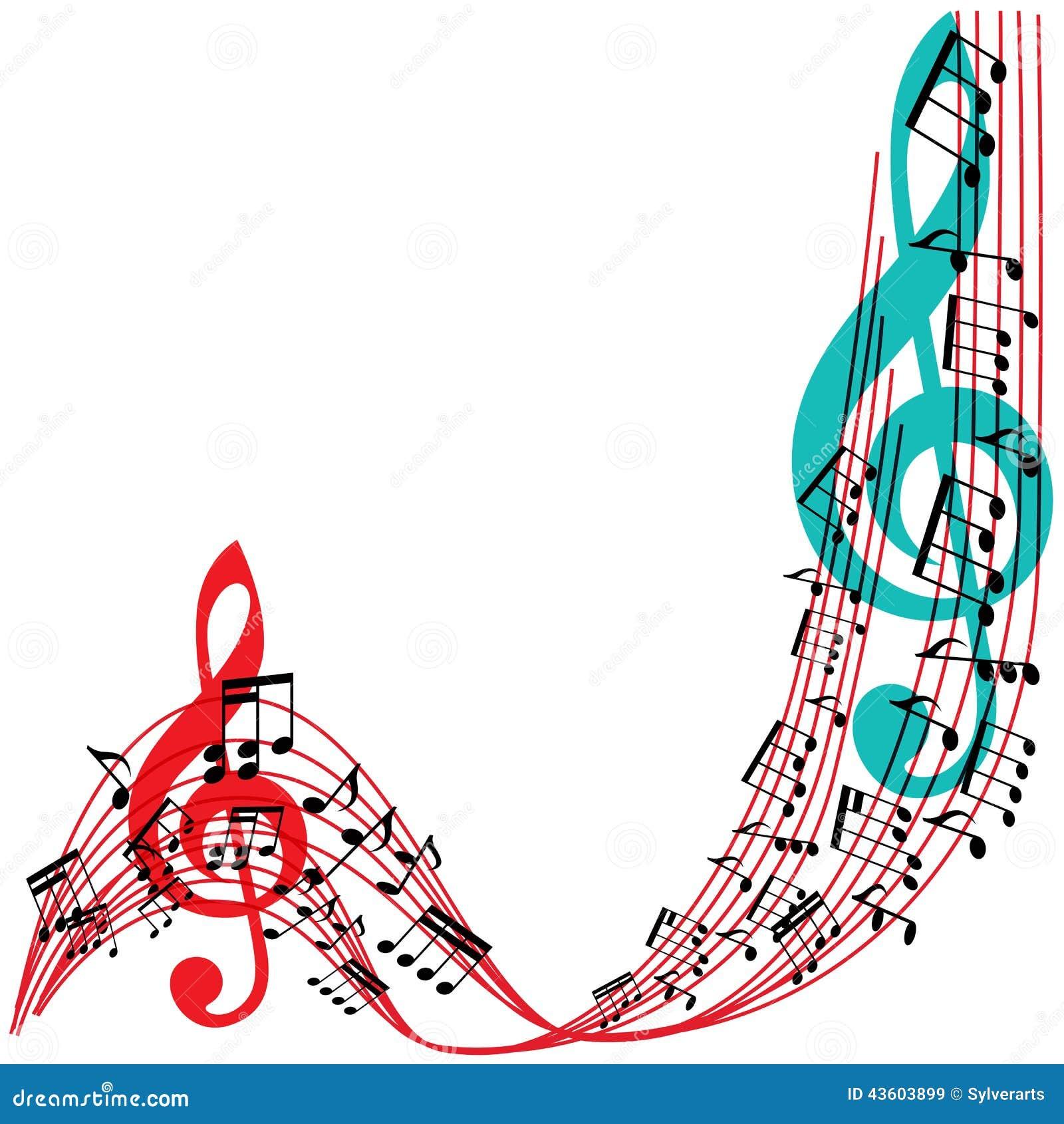 La Música Observa El Fondo, Marco Elegante Del Tema Musical ...