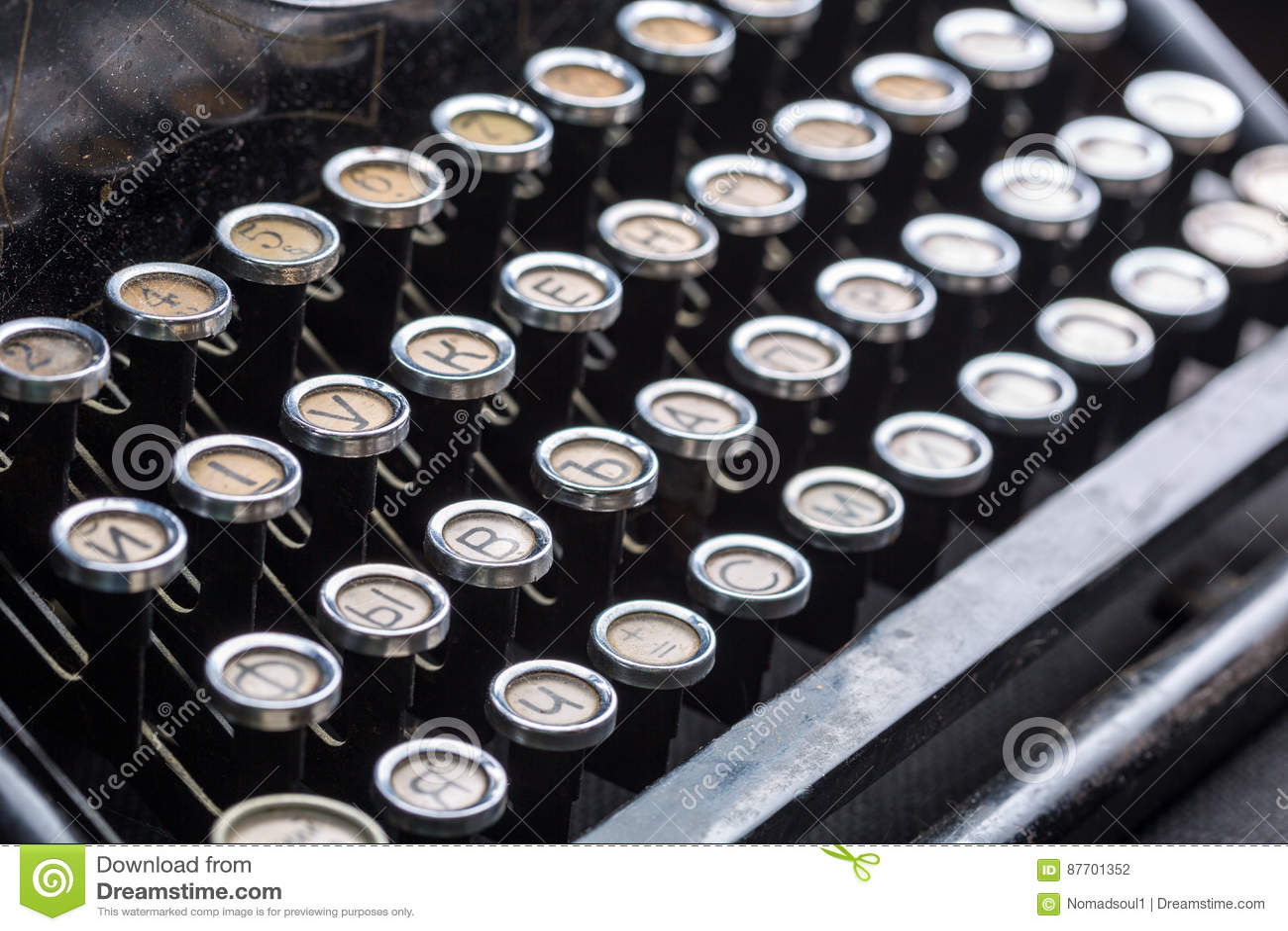 La machine à écrire de vintage verrouille l image de plan rapproché