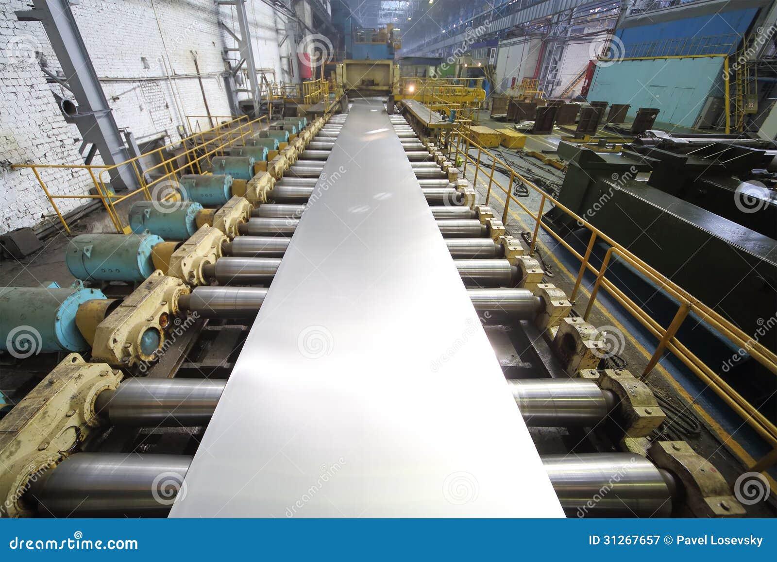 La Machine Du Laminoir D Un Bloc D Aluminium Fait Une